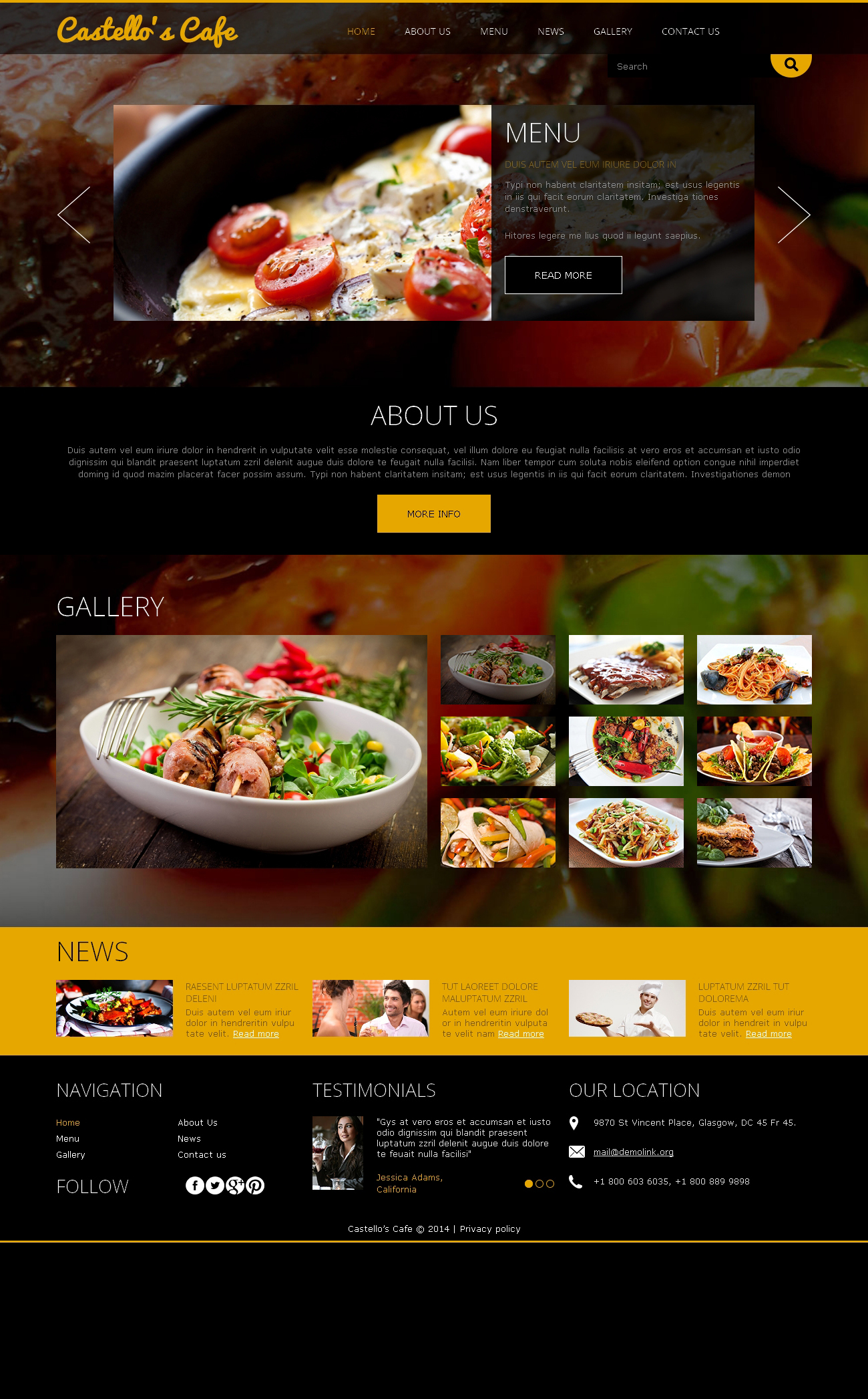 Your Restaurant Joomla Template