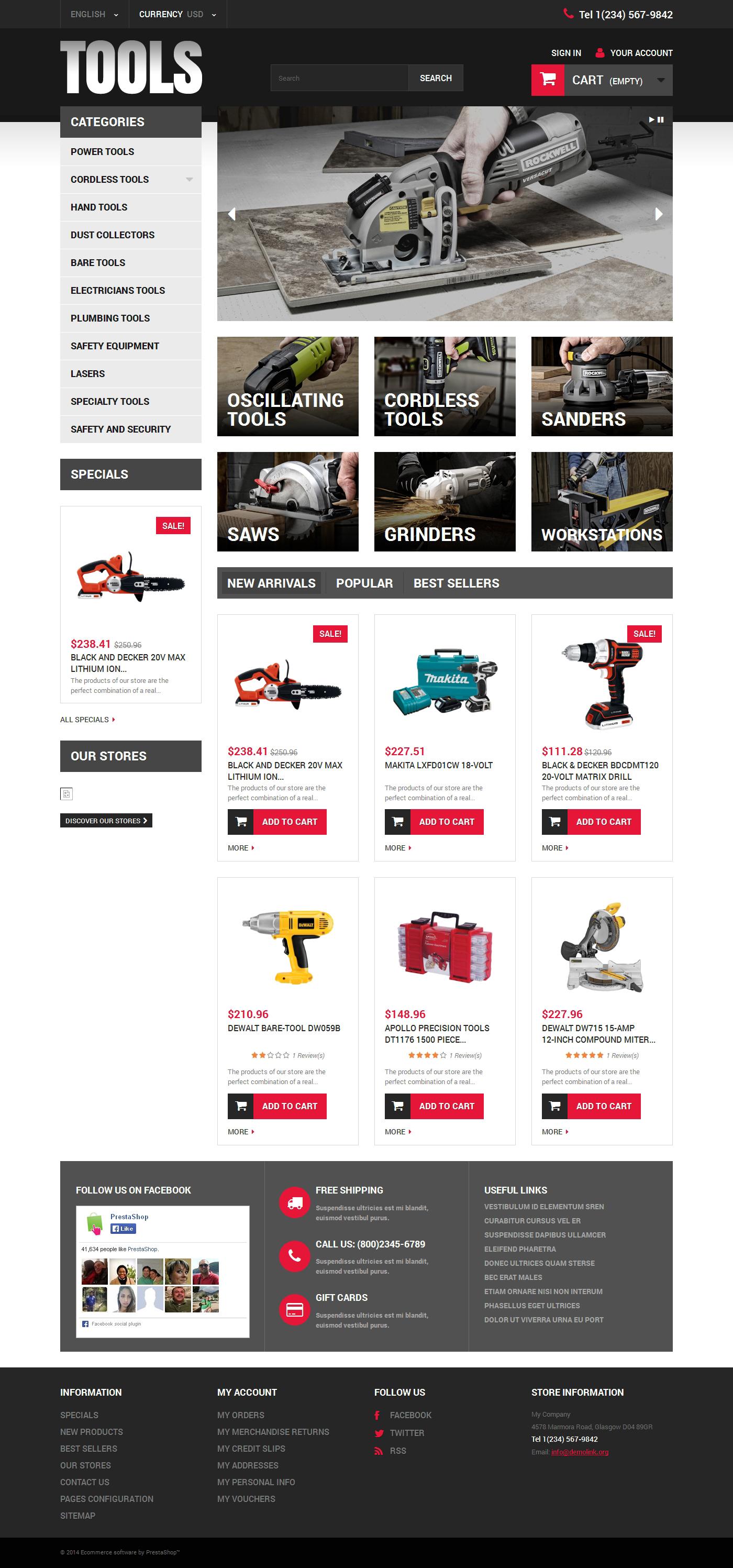 Online Tools PrestaShop Theme