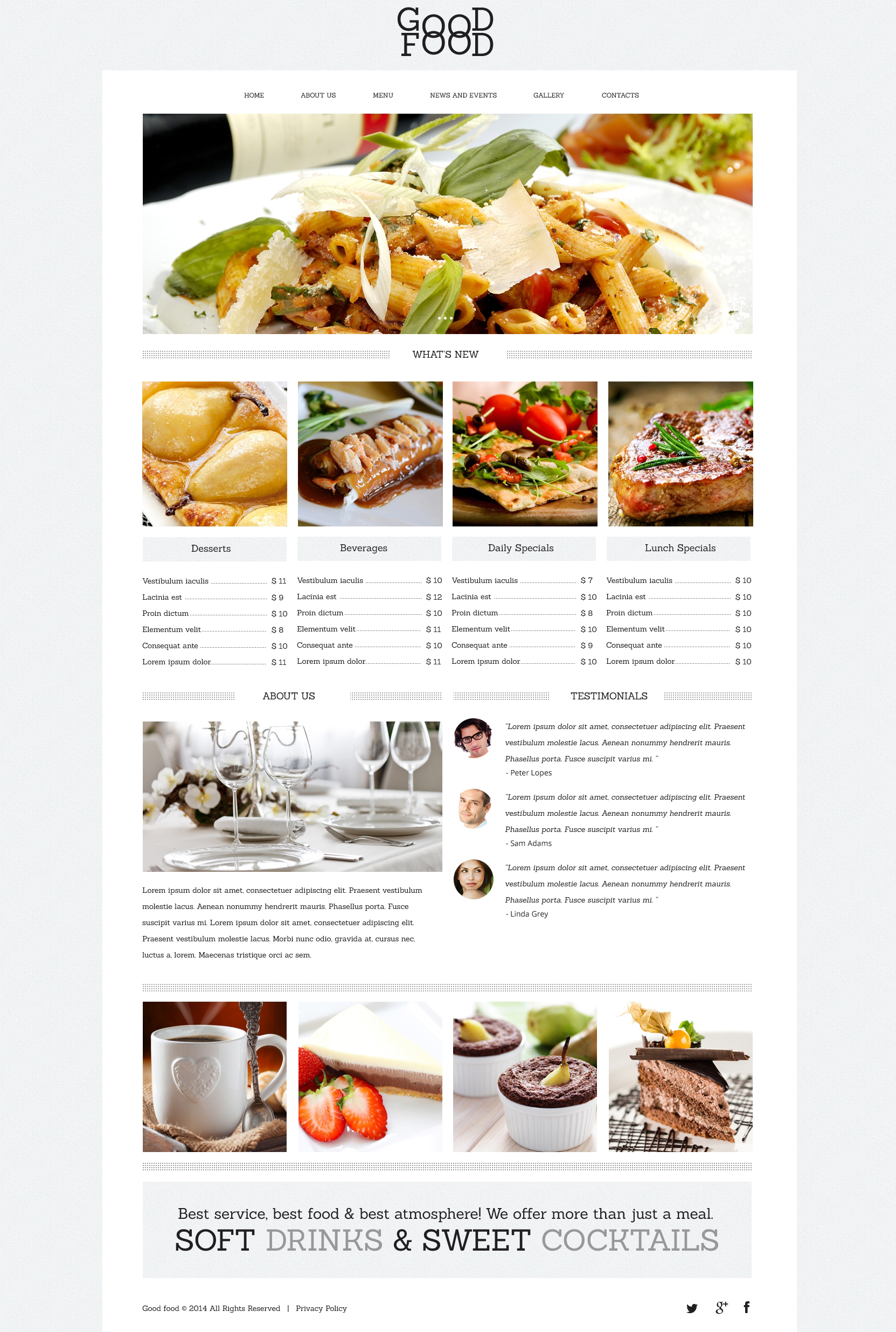 Yummy Food  Drink Cafe Drupal Template