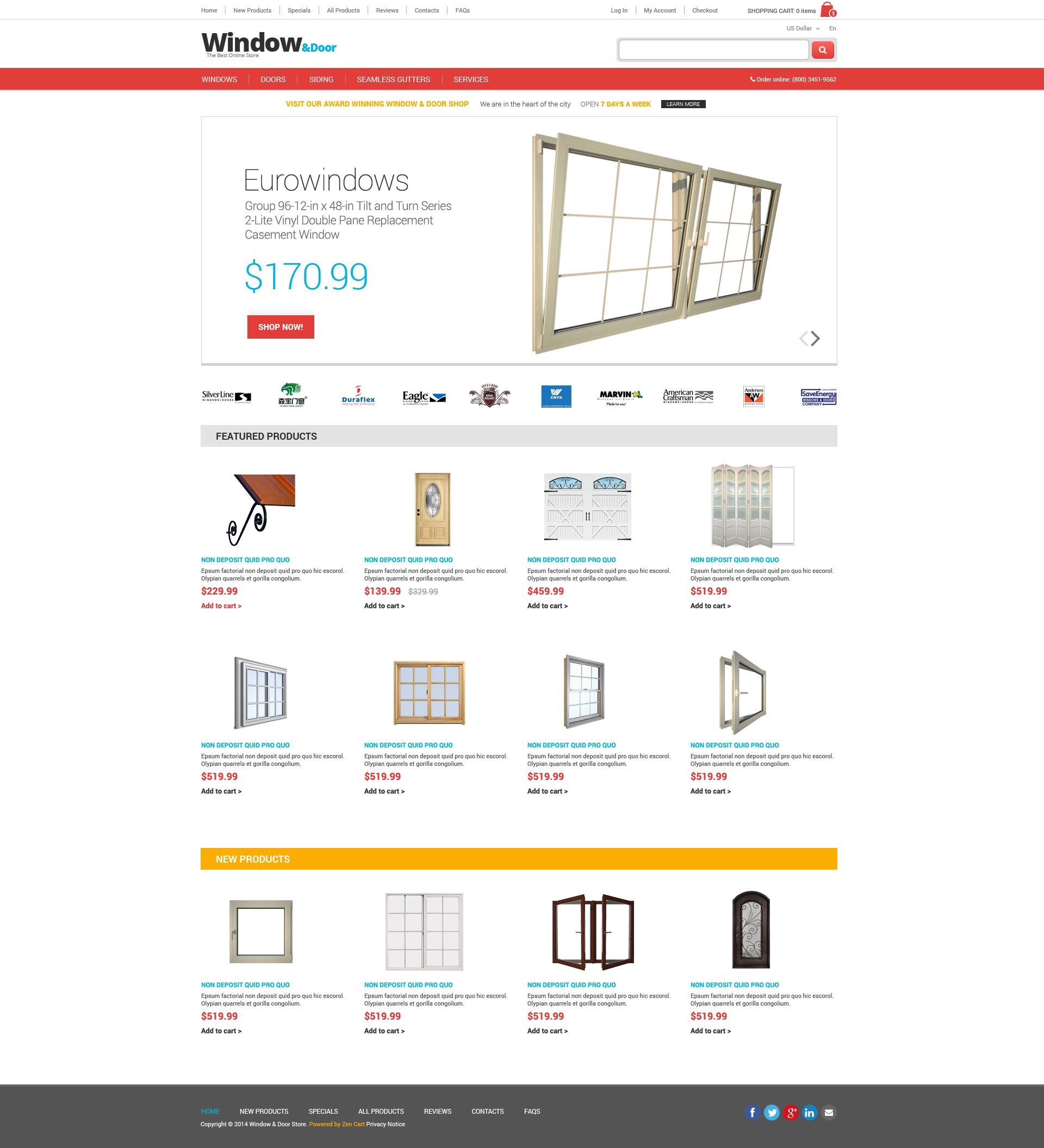 Window ZenCart Template