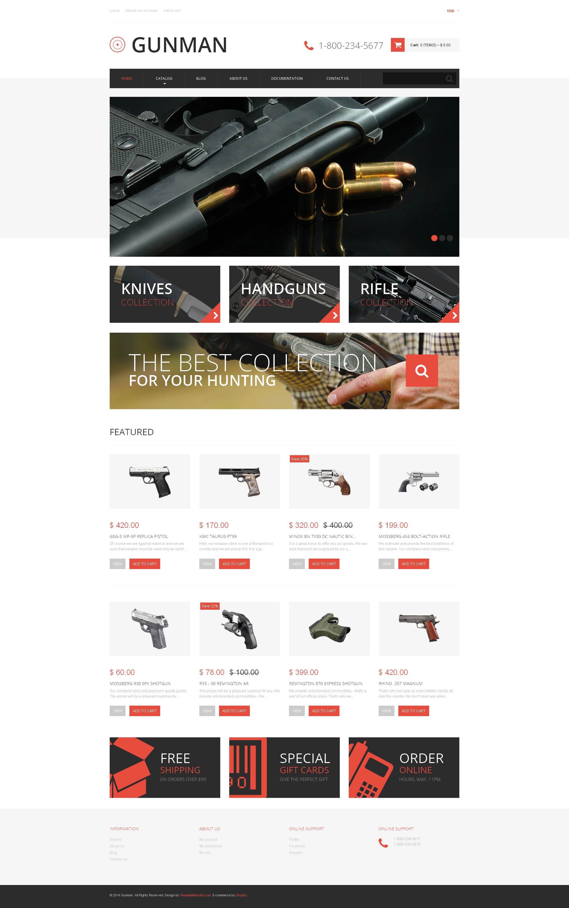 Gun Shop Responsive Shopify Theme