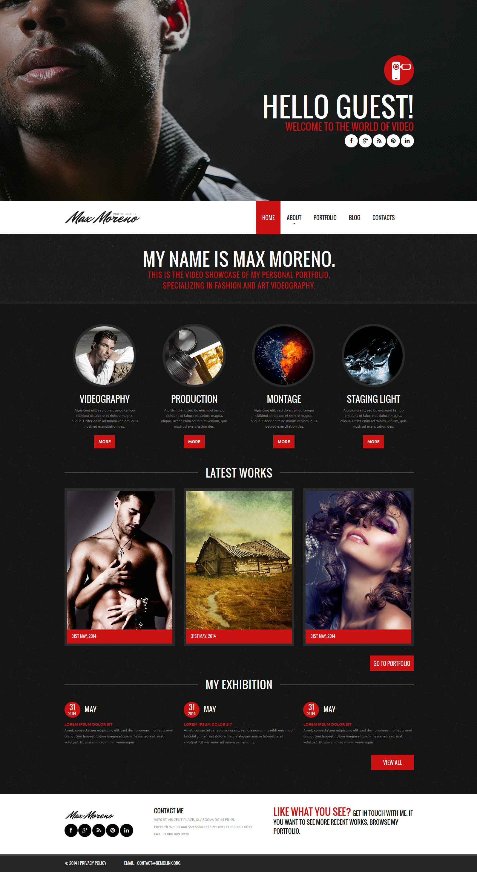 Photo  Video Portfolio Joomla Template
