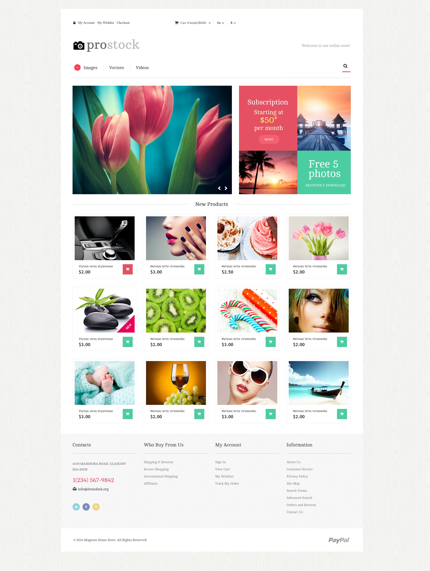 Online Portfolio Magento Theme