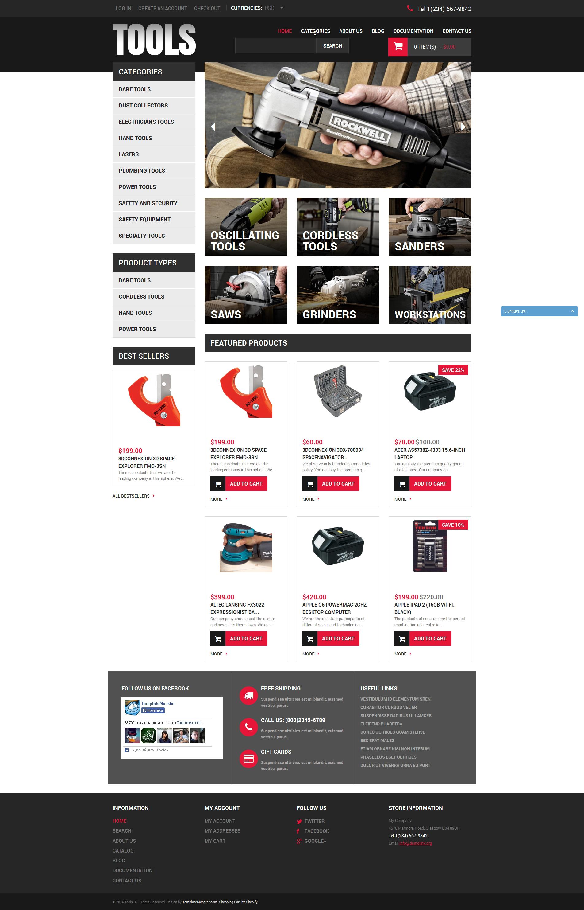 Tools & Equipment Responsive Shopify Theme