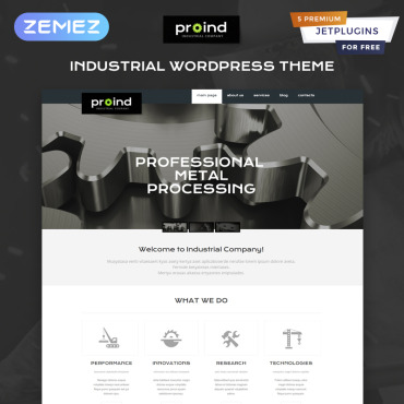 Template Industriale WordPress #49645