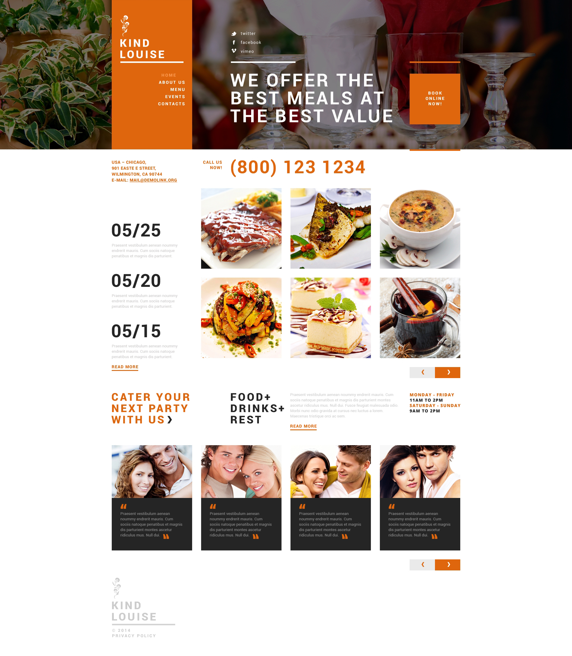 Cafe House Joomla Template