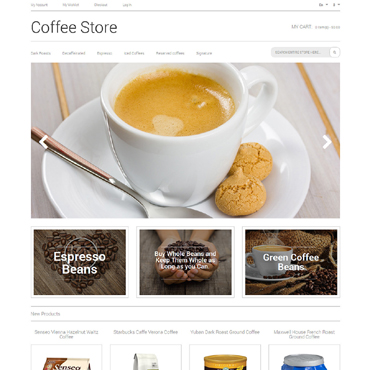 Template Cafenele și restaurante Magento #50483