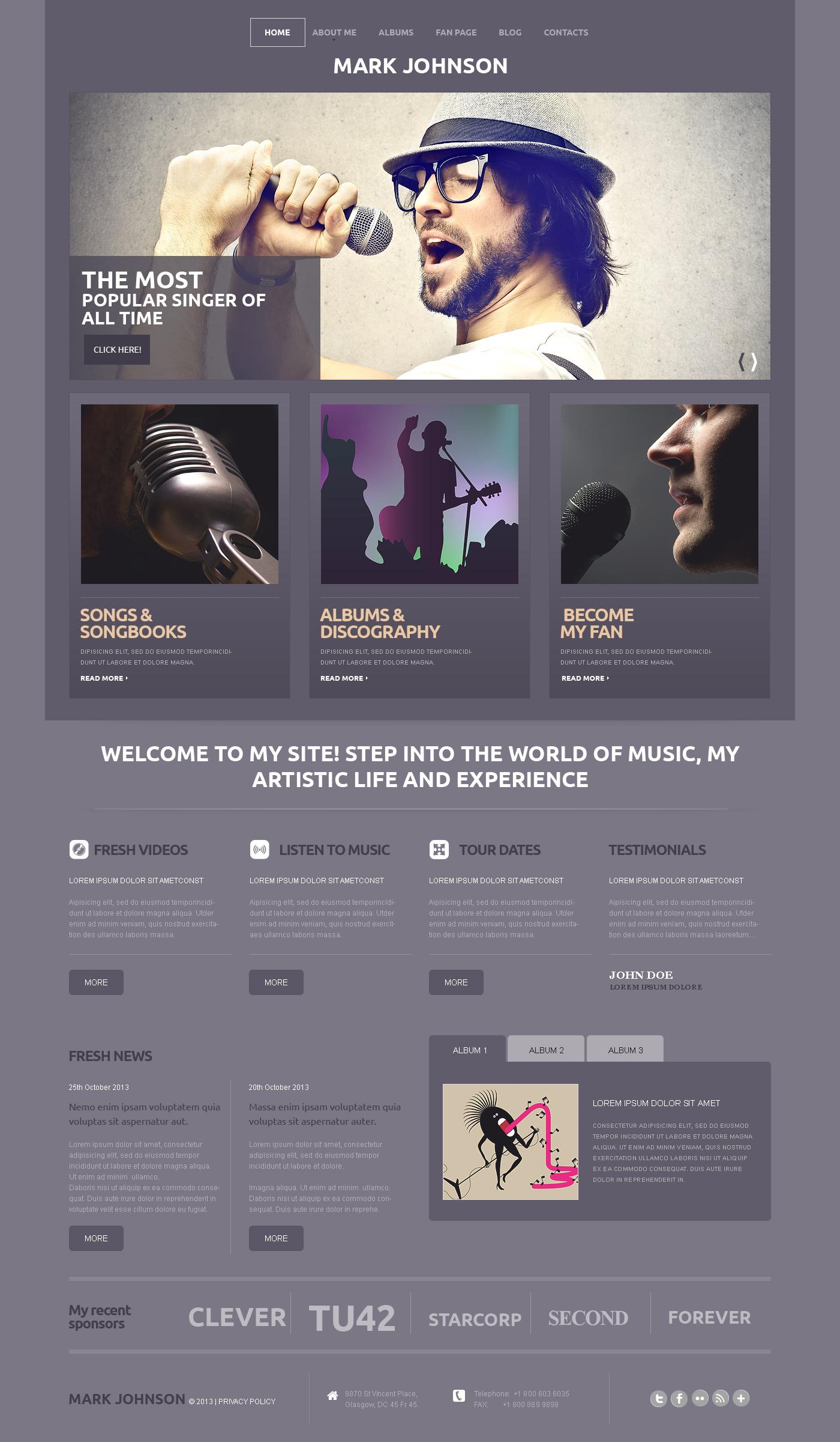 Music Responsive WordPress Theme