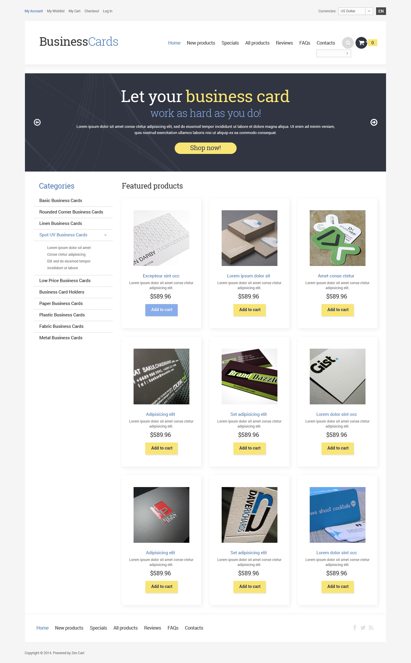 Business & Services ZenCart Template