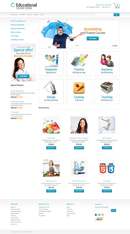 Template 50549 for Magento community templates