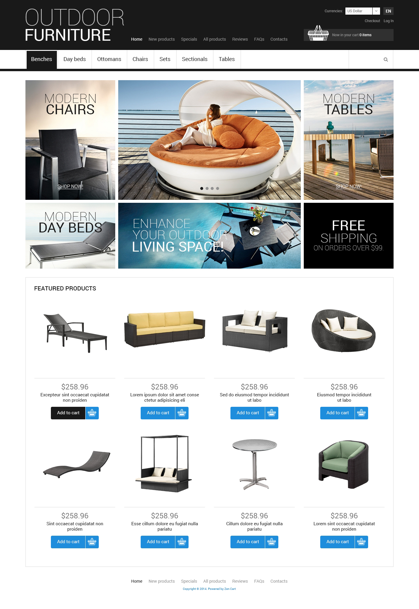 Outdoor Furniture ZenCart Template