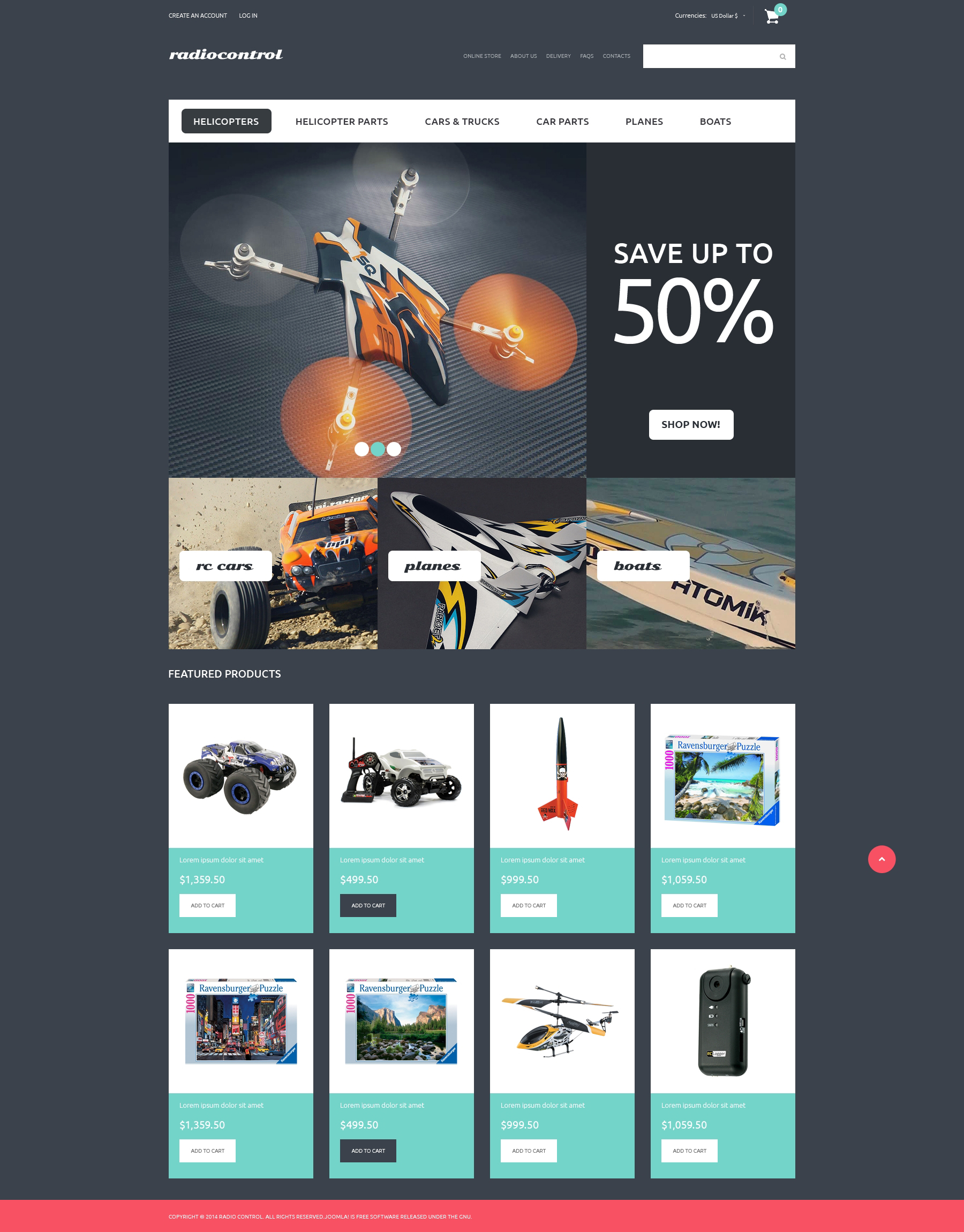 RC Toys VirtueMart Template