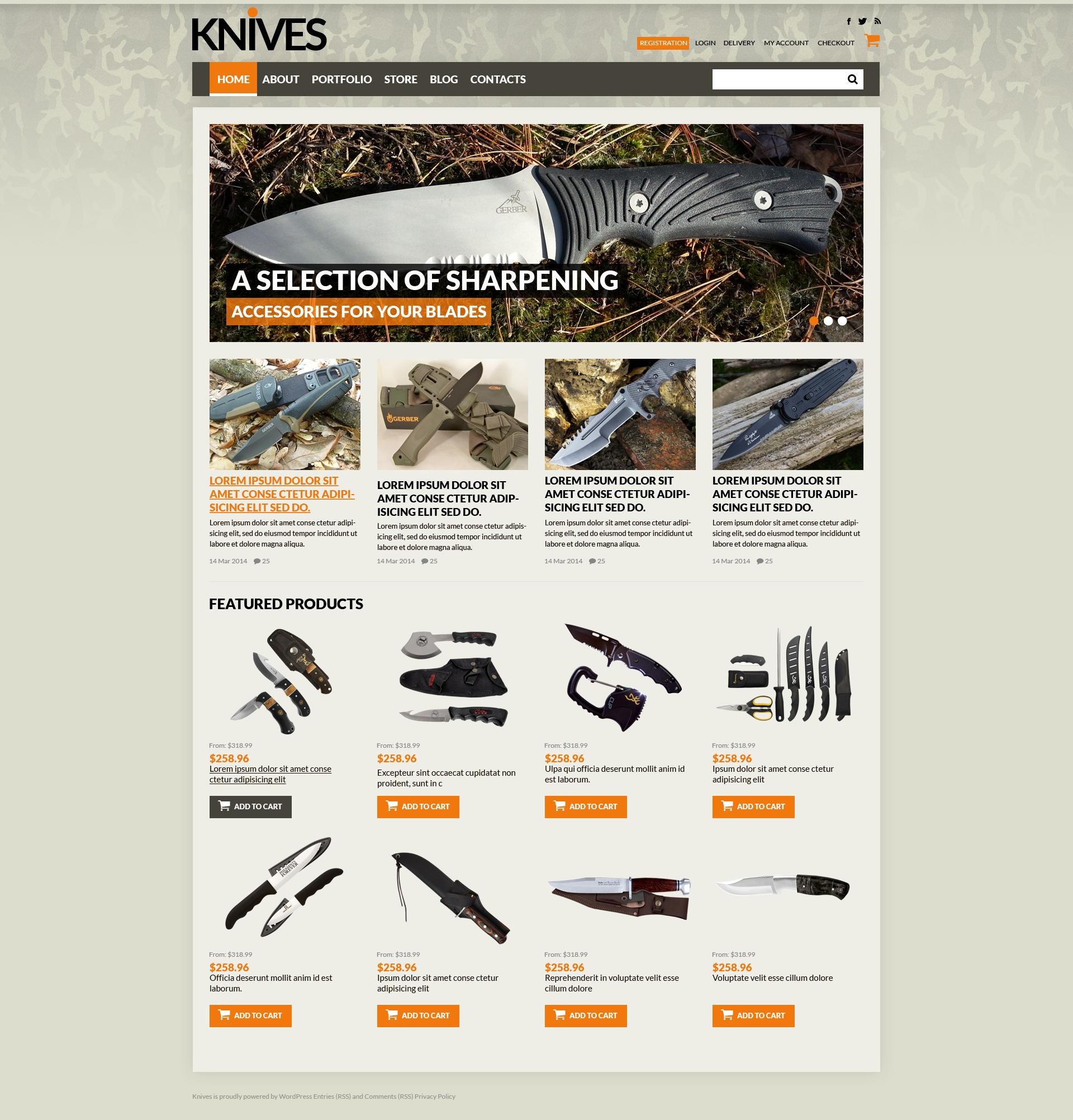 Sharp Blades Store WooCommerce Theme