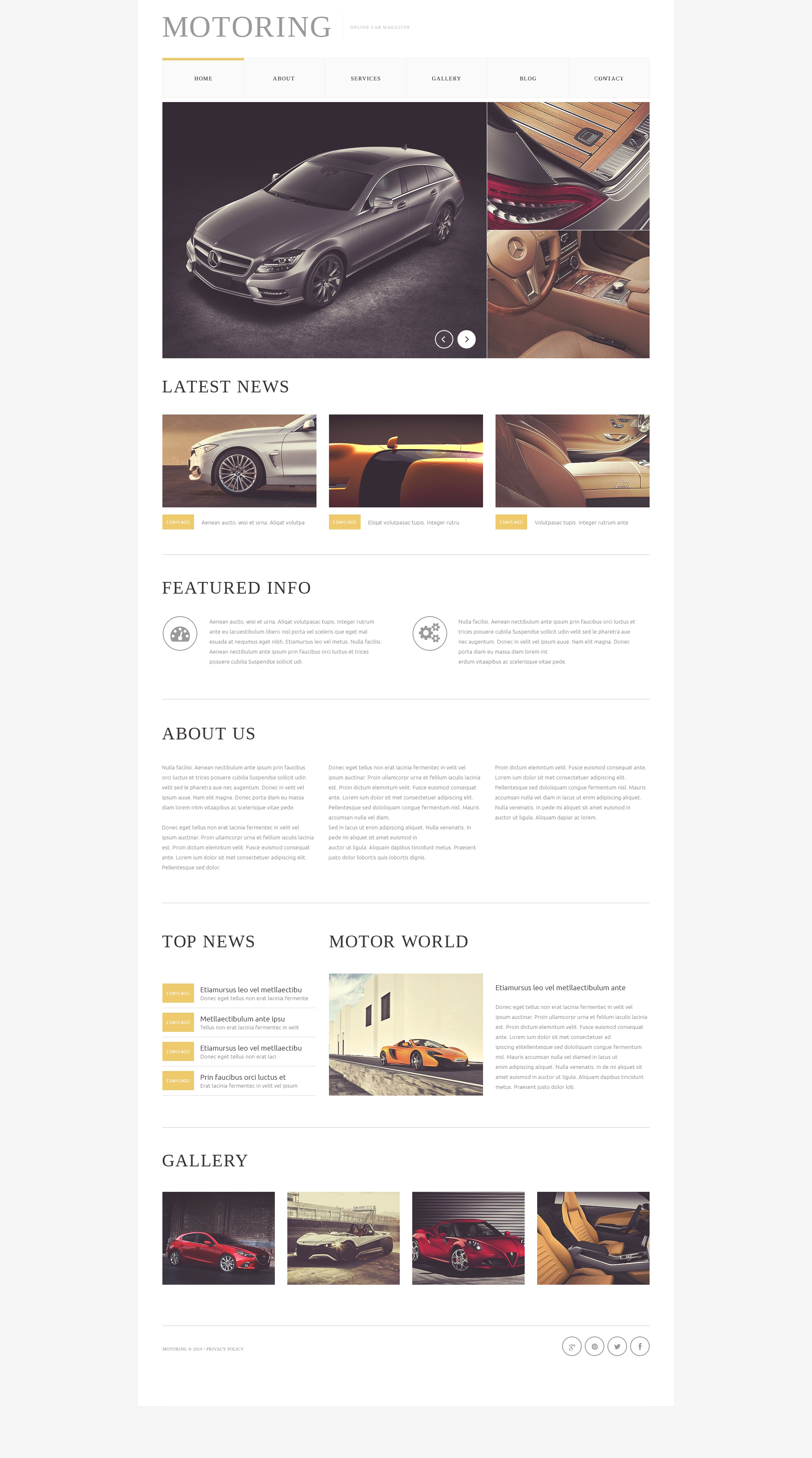 Car  Bike Magazine Drupal Template