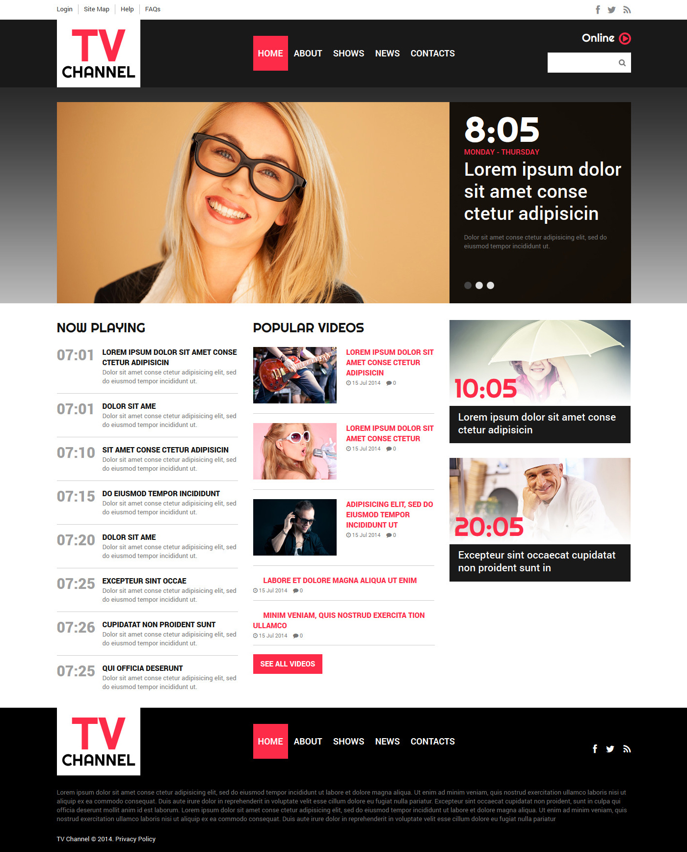 TV Channel Joomla Template