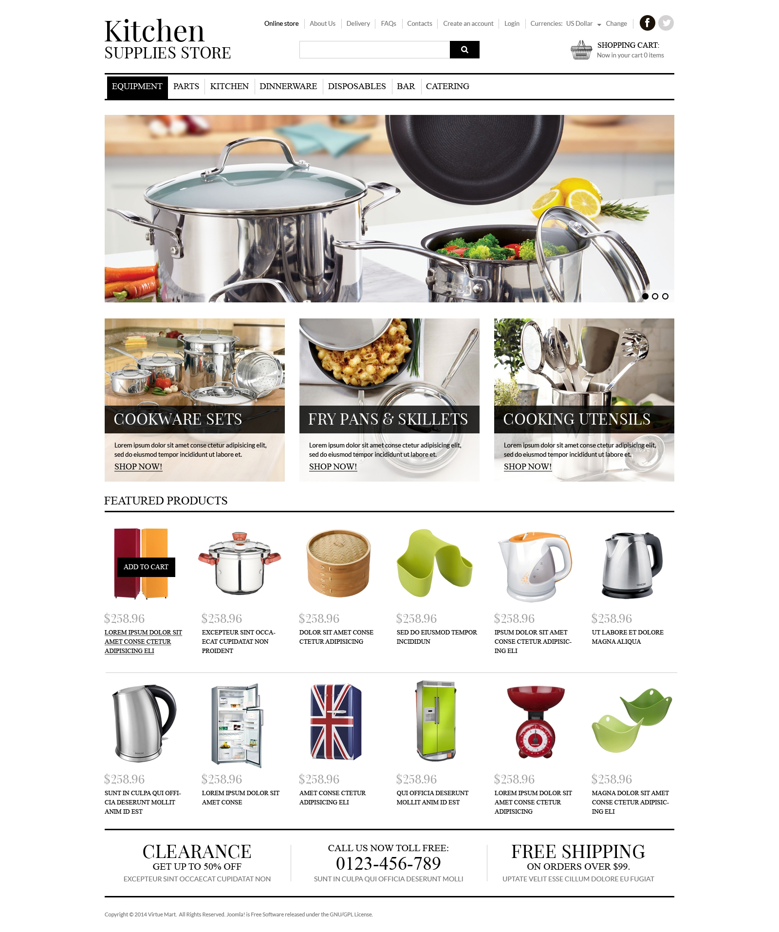 Housewares VirtueMart Template