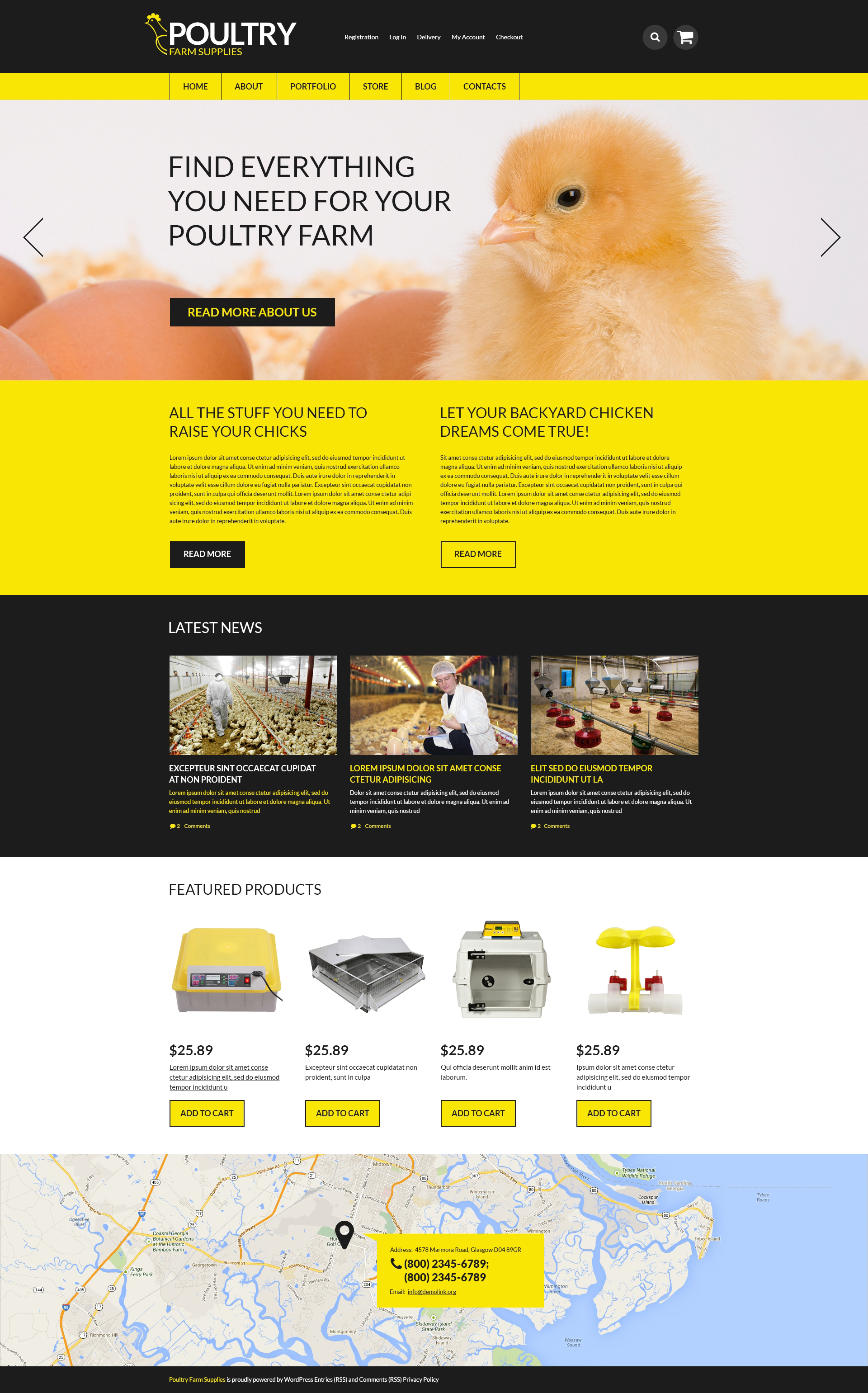 Poultry Farm Supplies WooCommerce Theme