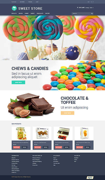 Template 50982 for Magento community templates