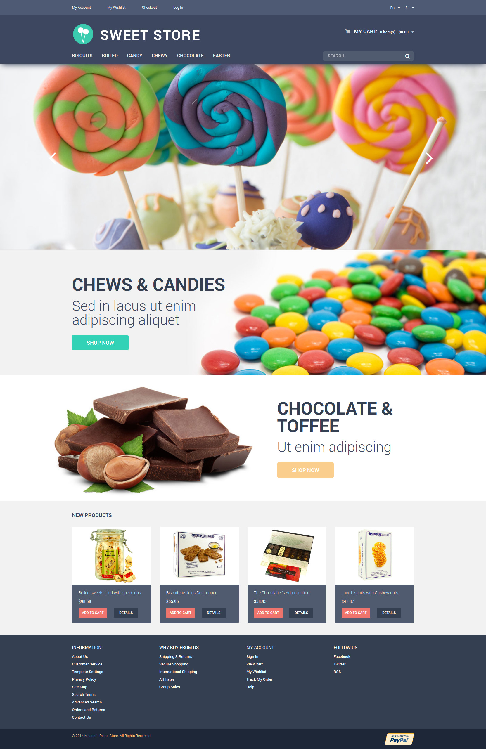 Candy Web Store Magento Theme