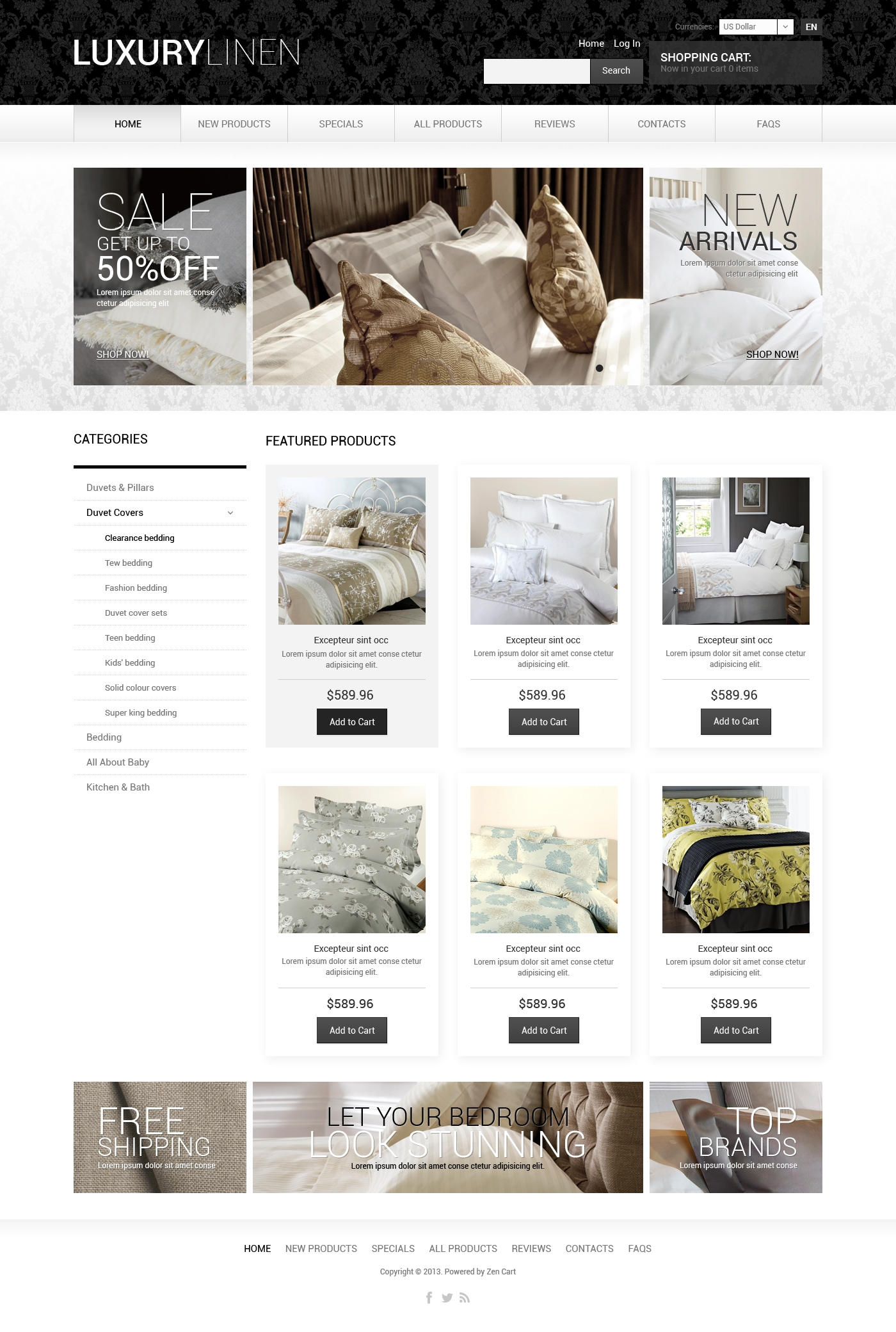 Home Decor ZenCart Template