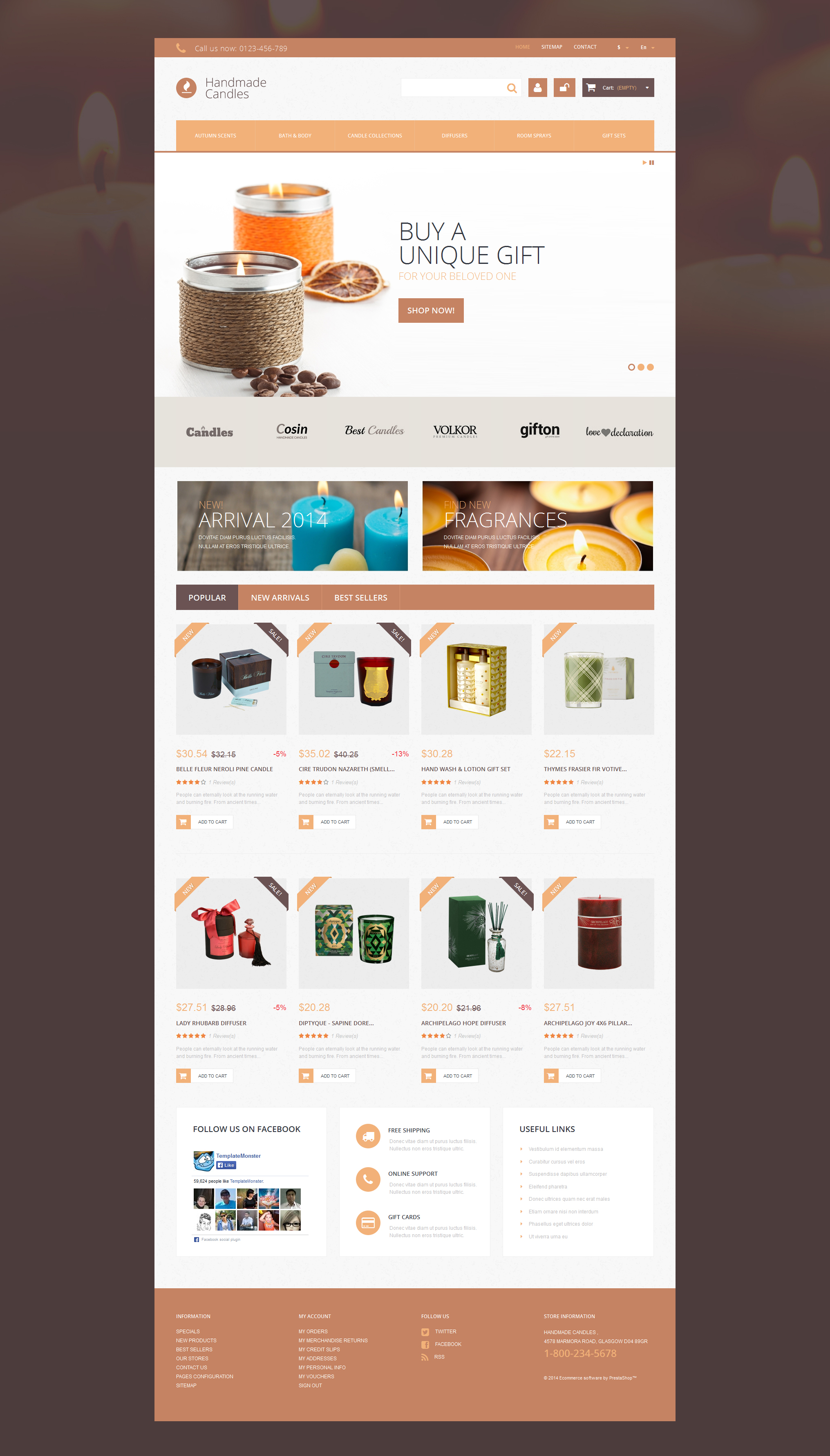 Handmade Candles PrestaShop Theme