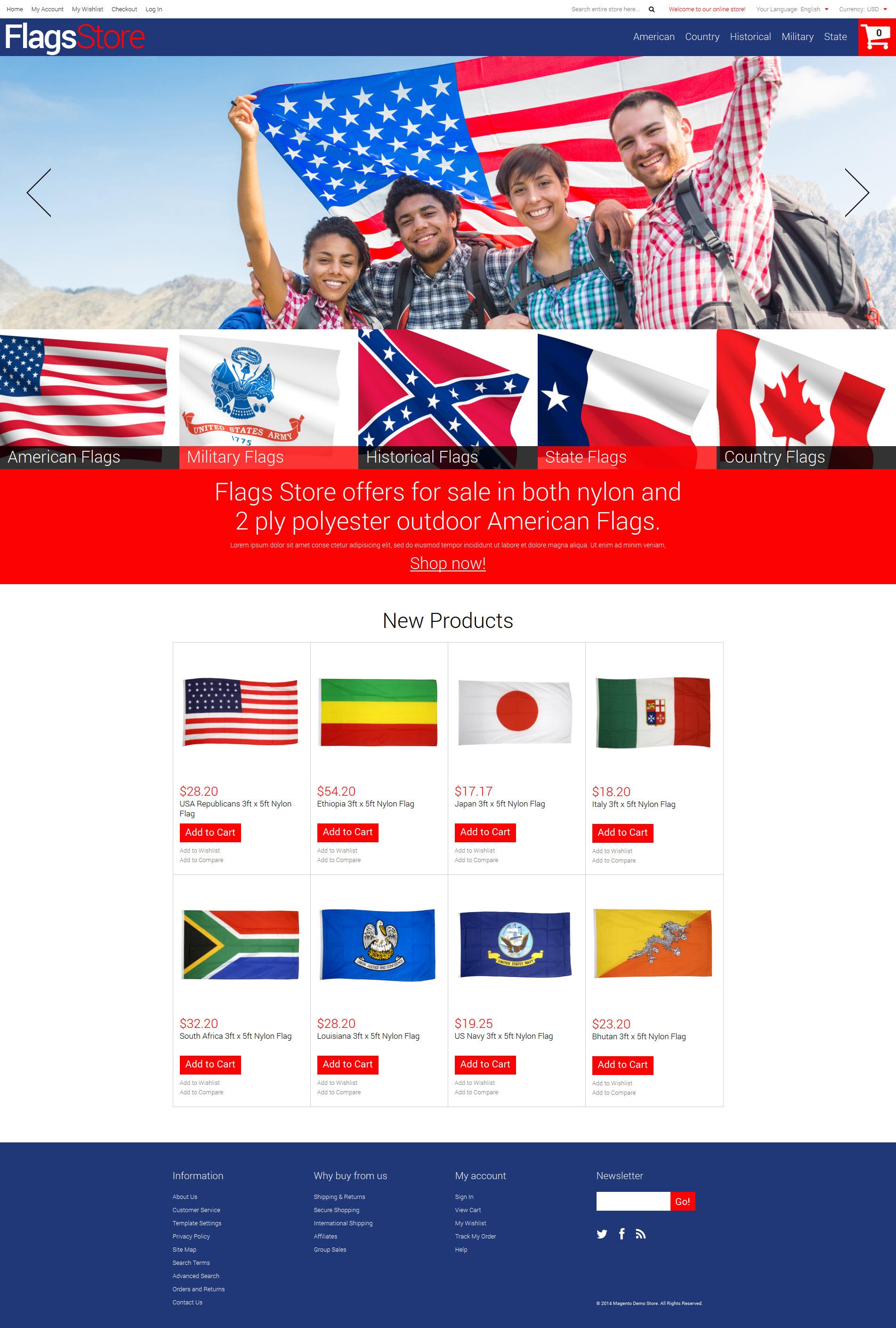 Flags Shop Magento Theme