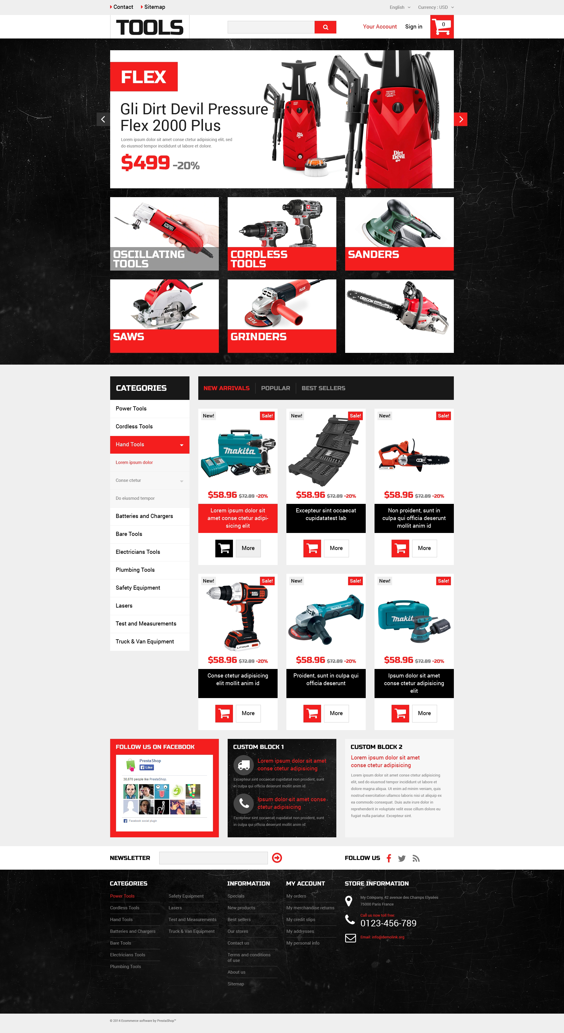 Home Improvement Tools PrestaShop Theme