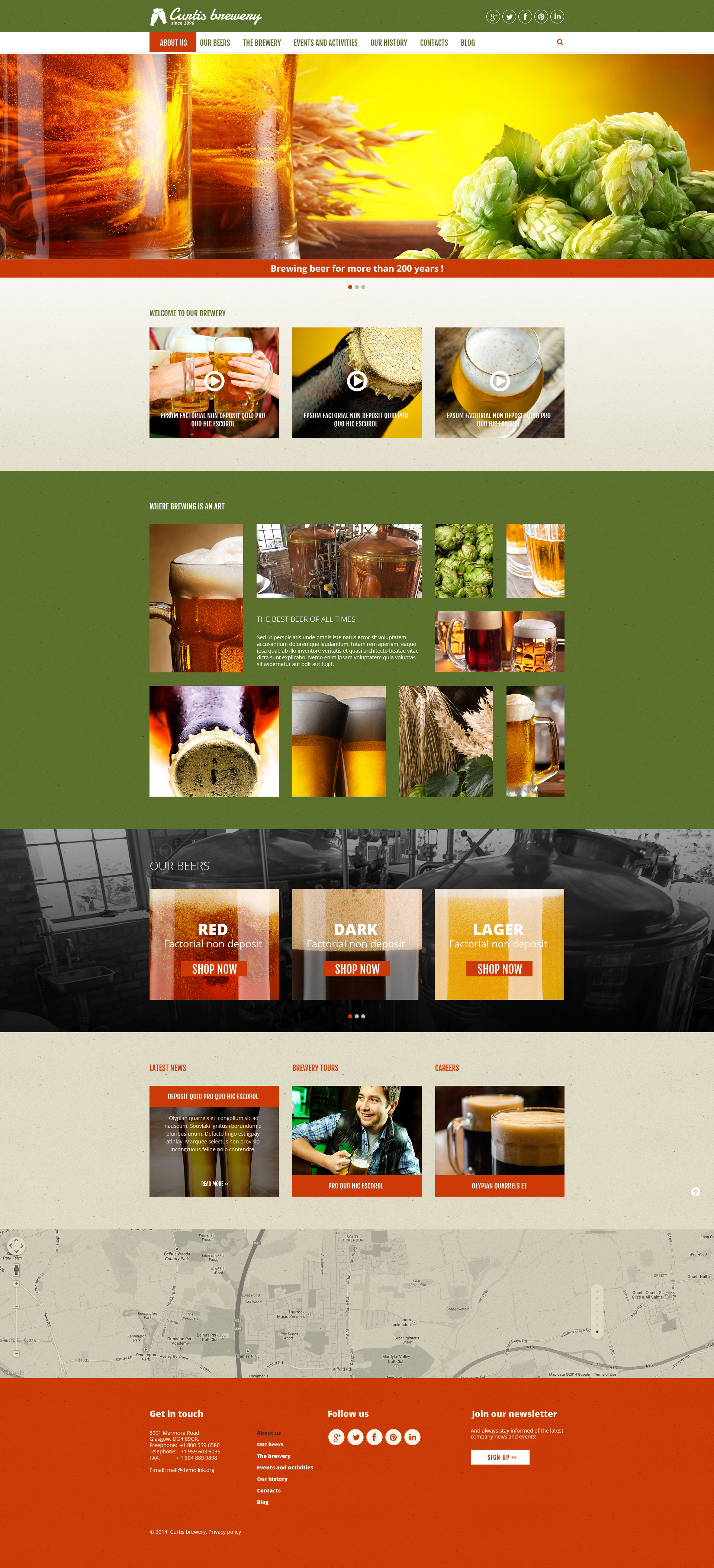 Curtis Brewery Joomla Template