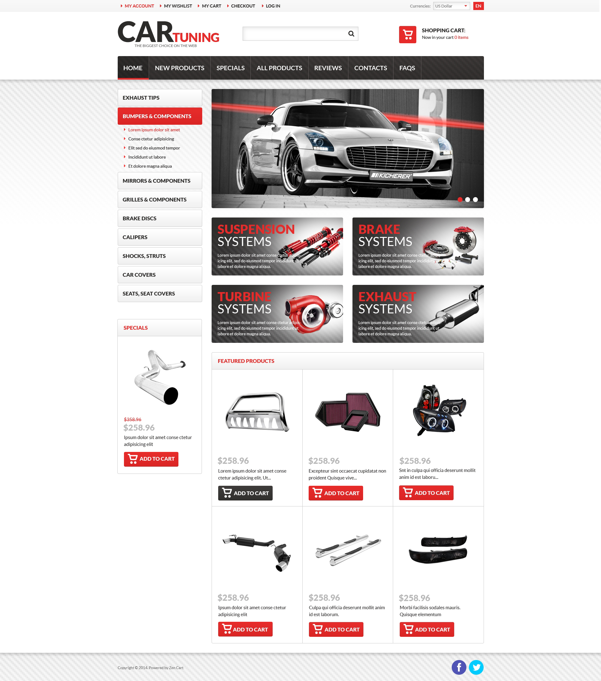 Car Tuning ZenCart Template