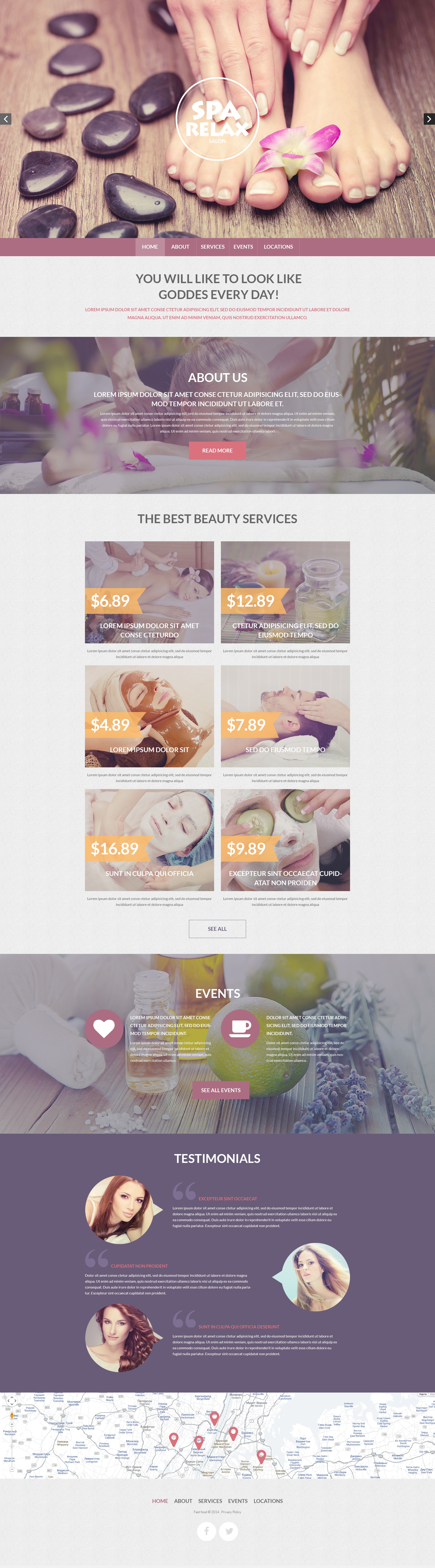 Spa Accessories Responsive Drupal Template