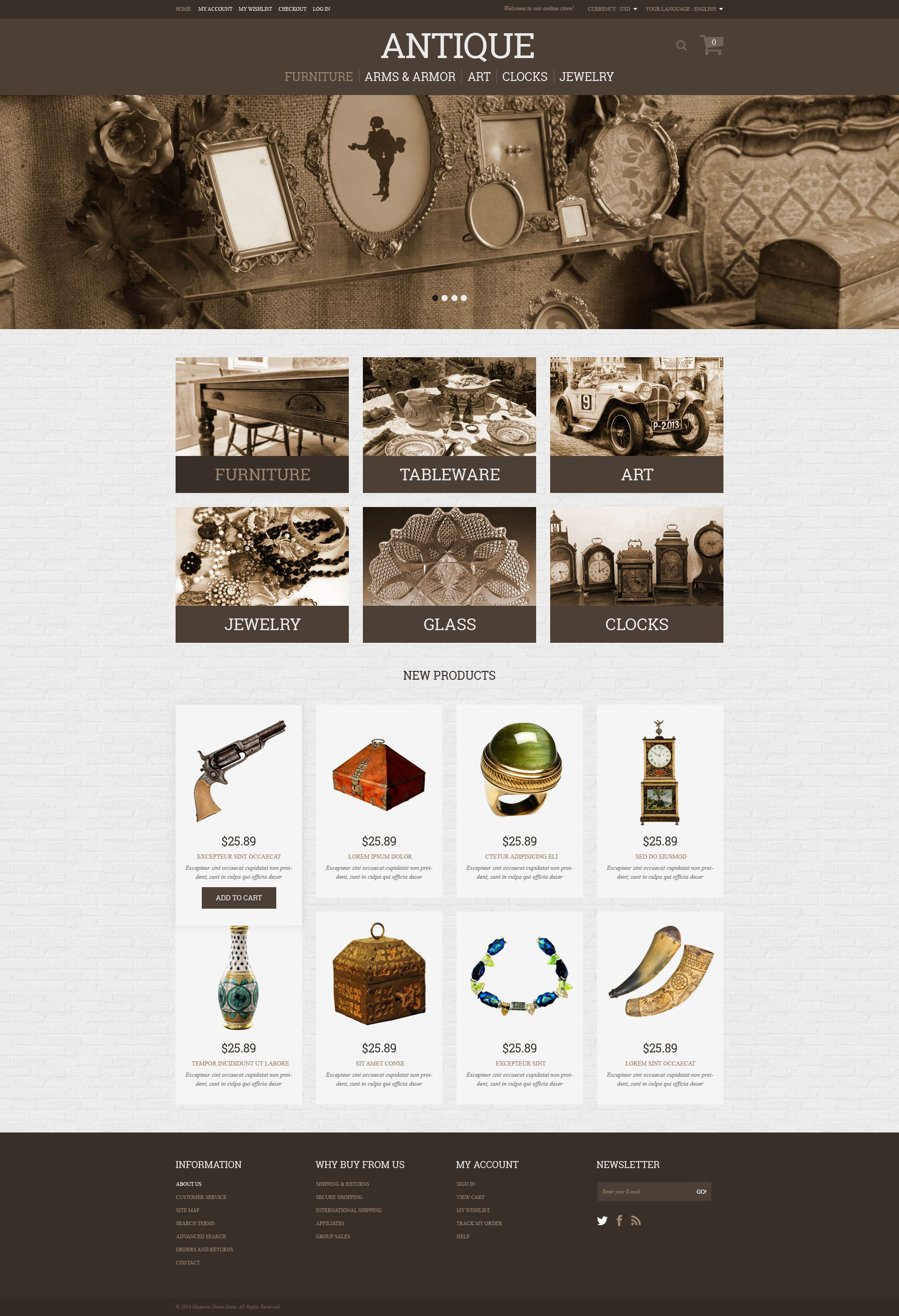 Antique Store Magento Theme