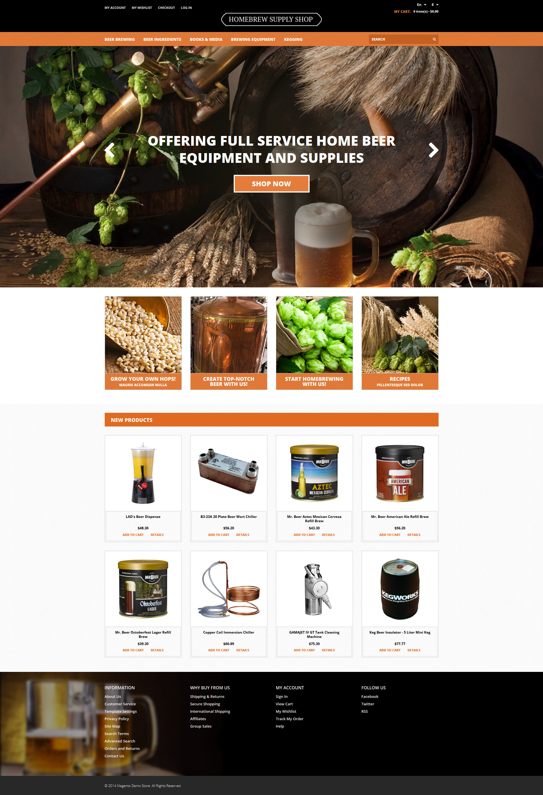 Pro Beer Brewing Magento Theme