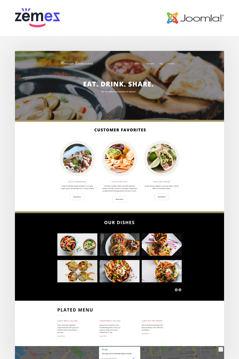 Mexican Restaurant - Mexican Restaurant Elegant Joomla Template
