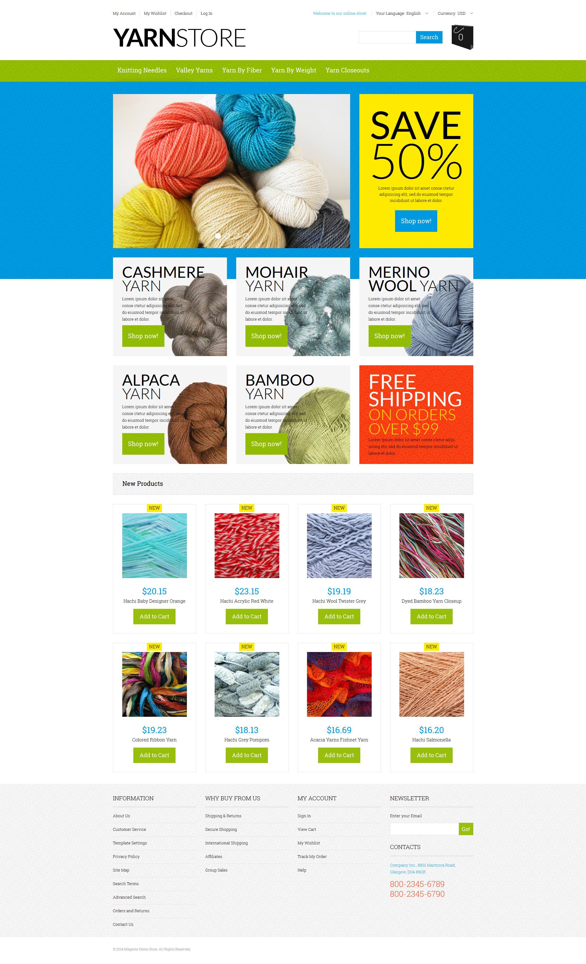 Yarn Online Store Magento Theme