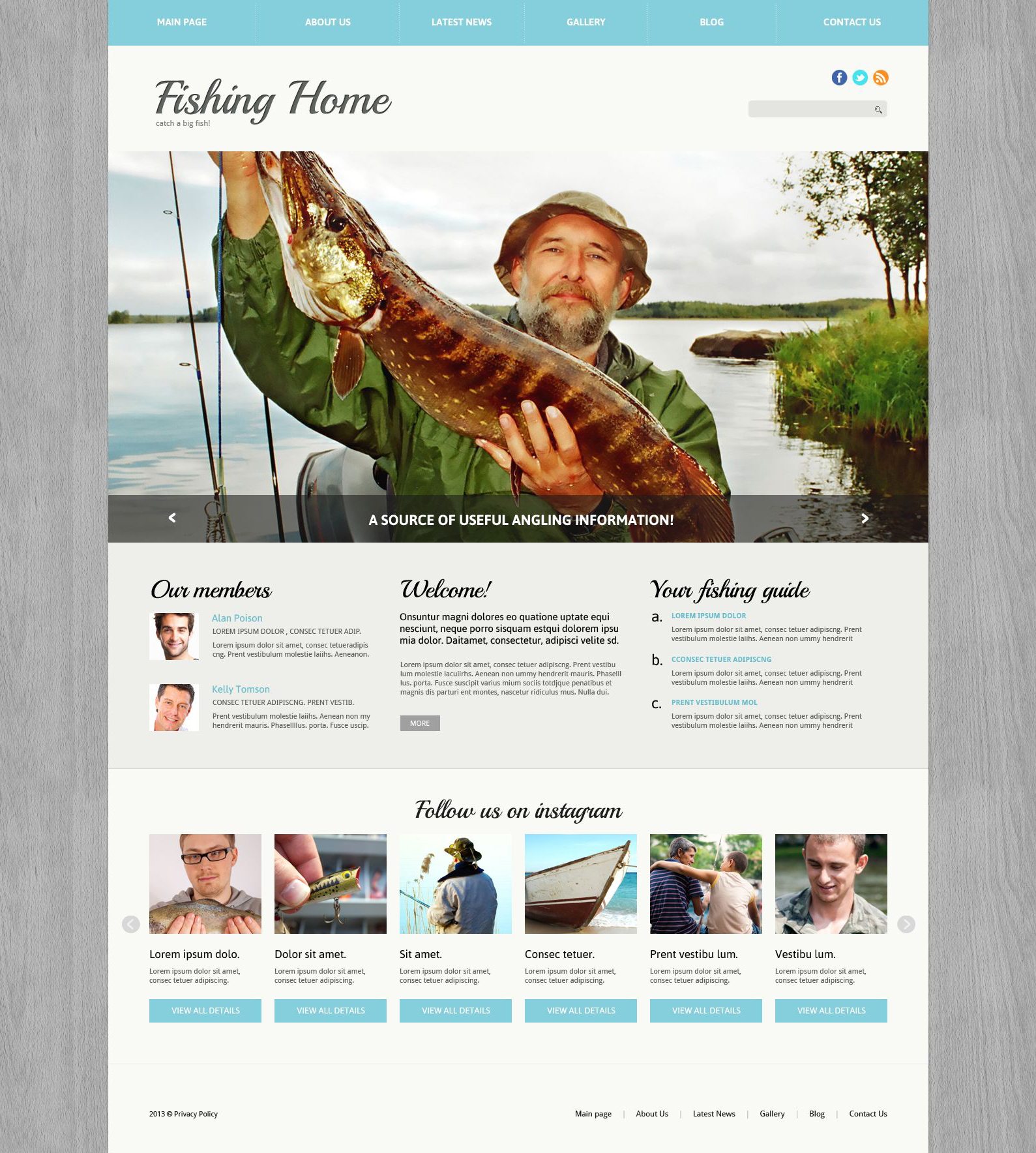 Fishing Responsive Joomla Template