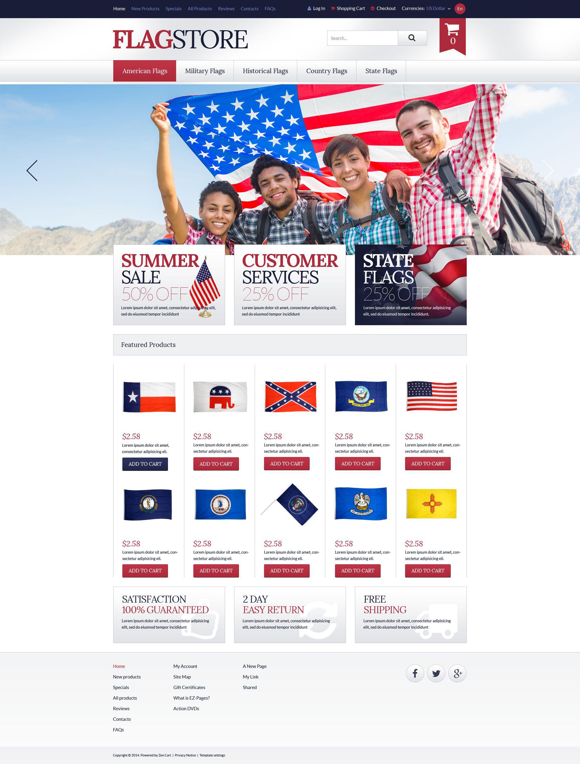 Flags Promotion ZenCart Template