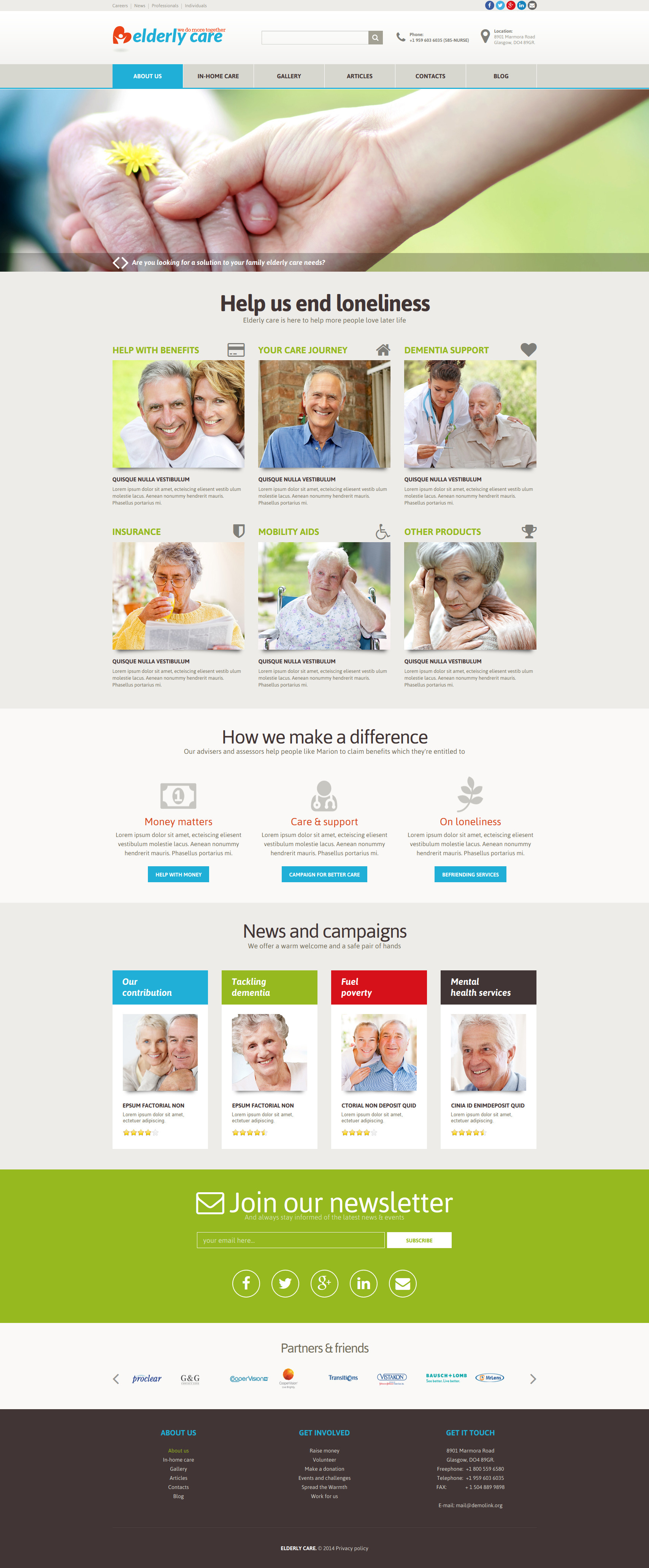 Elderly Care Joomla Template