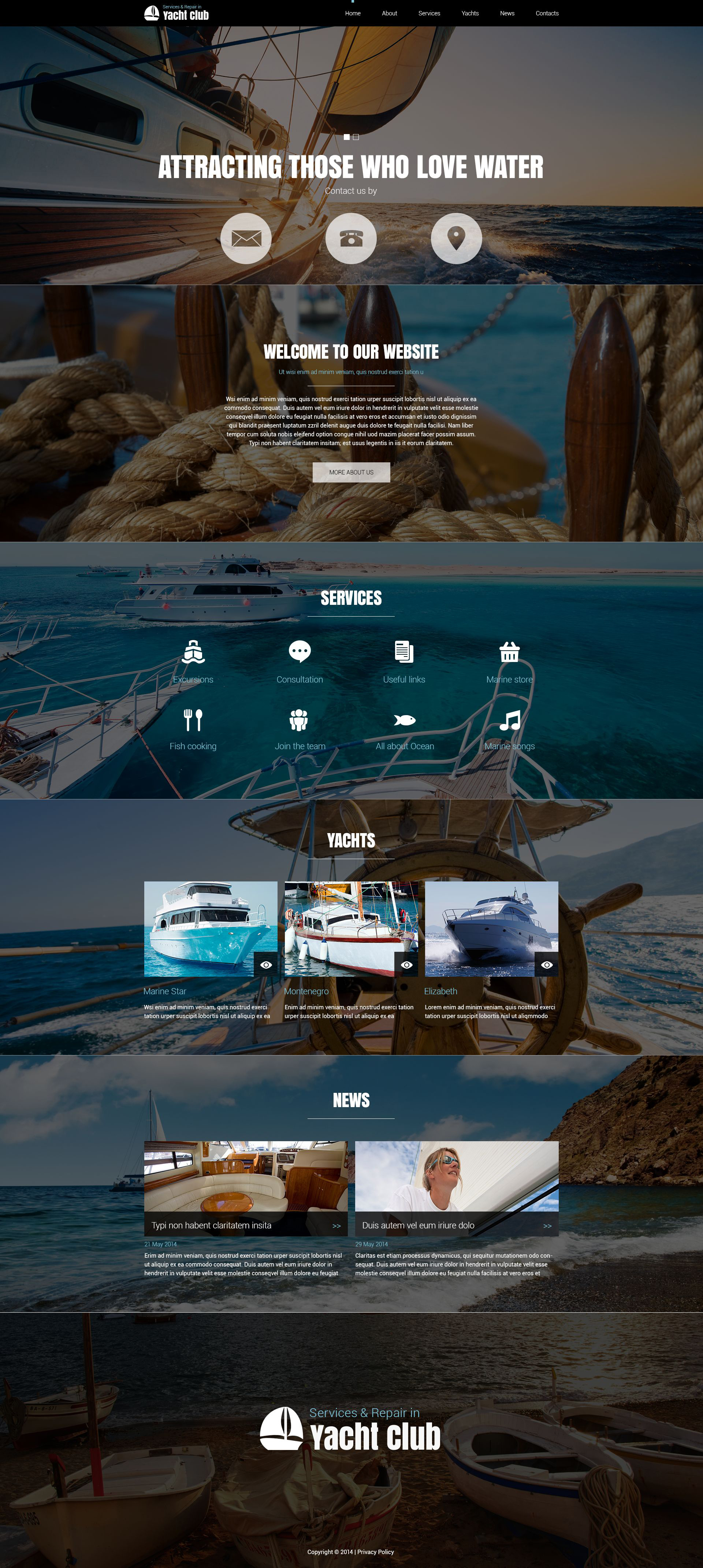 Yachting Club Joomla Template