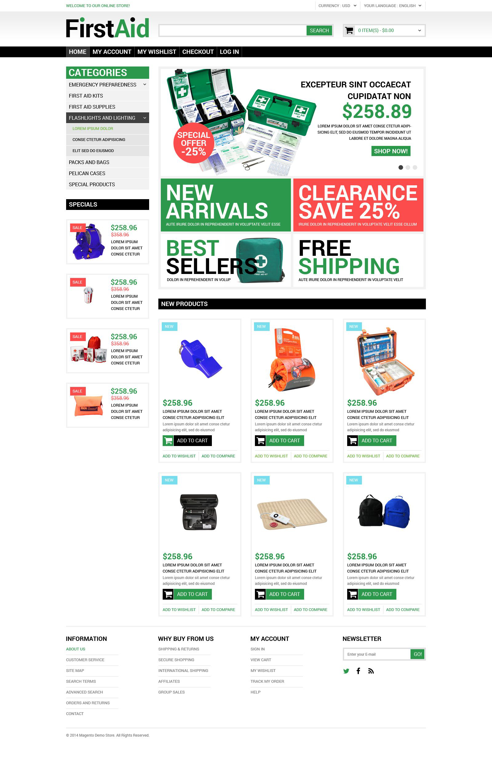 Healthcare Supplies Magento Theme