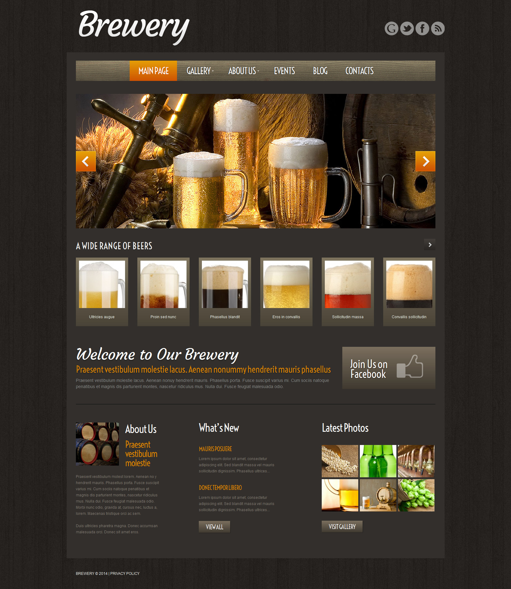 Craft Beer WordPress Theme