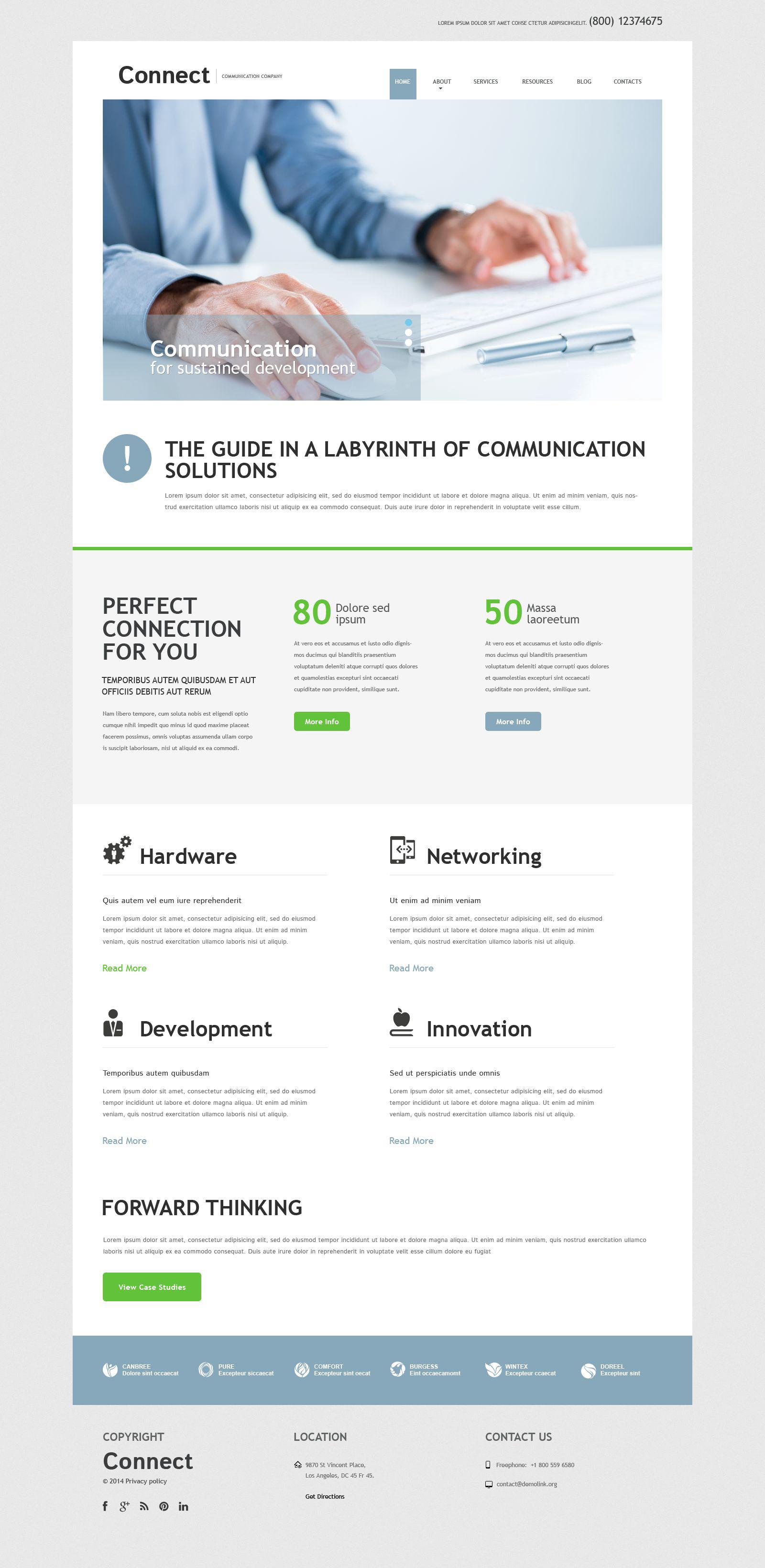 Communication Services Joomla Template