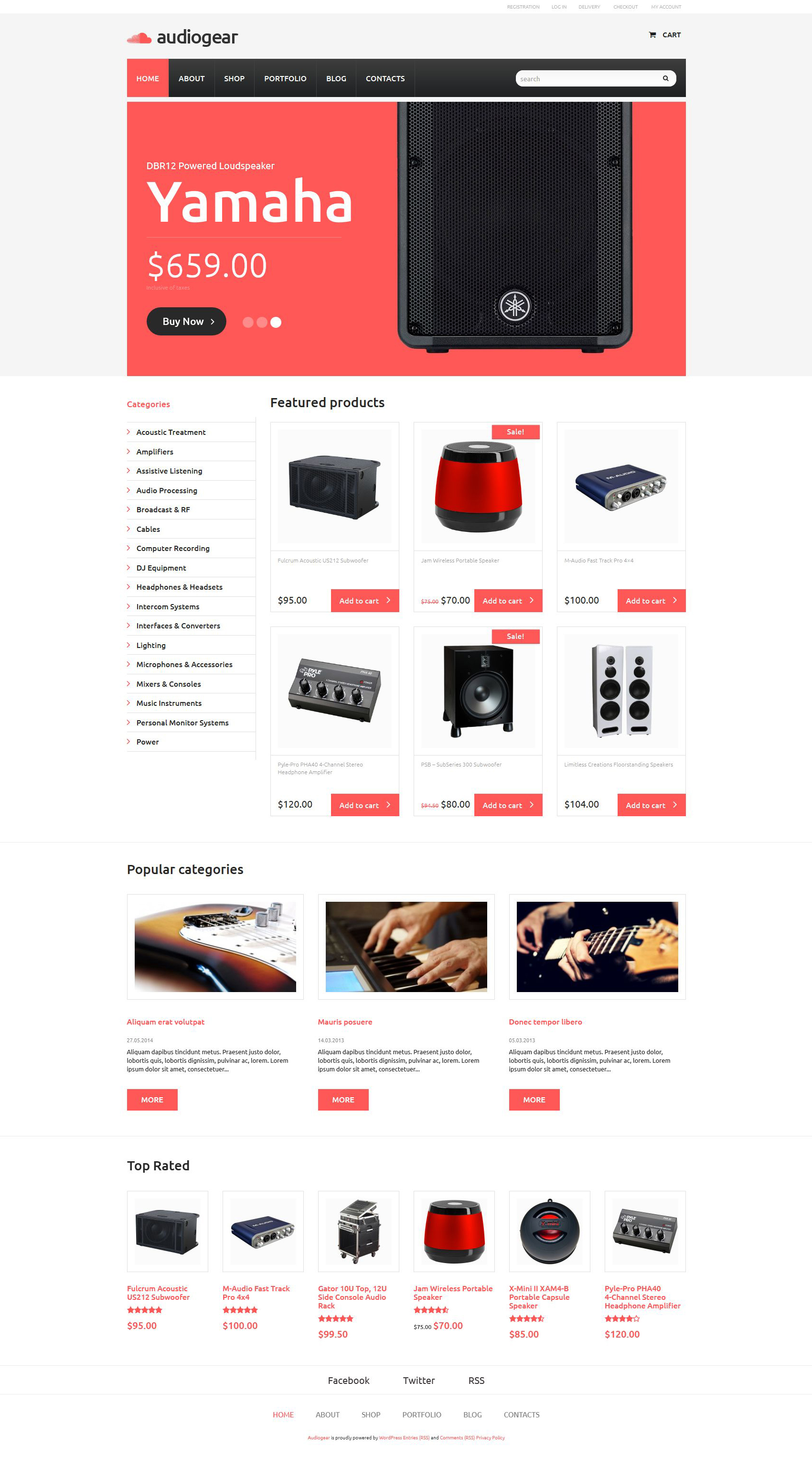 Audiogear Shop WooCommerce Theme