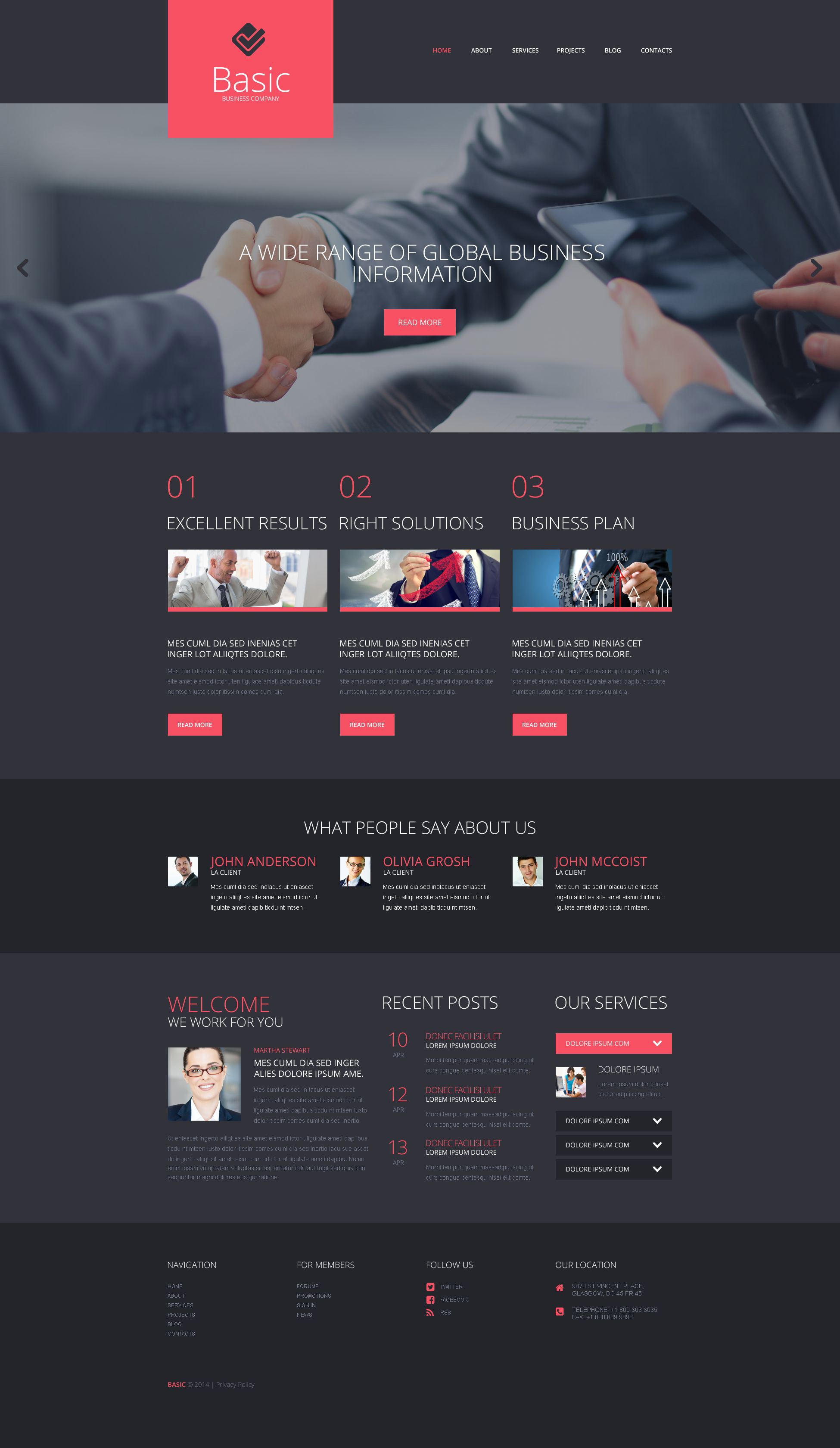 Business & Services Responsive WordPress Theme