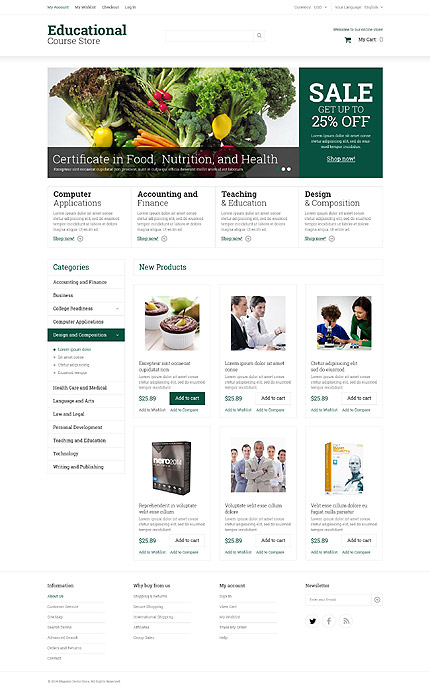Template 52055 for Magento community templates