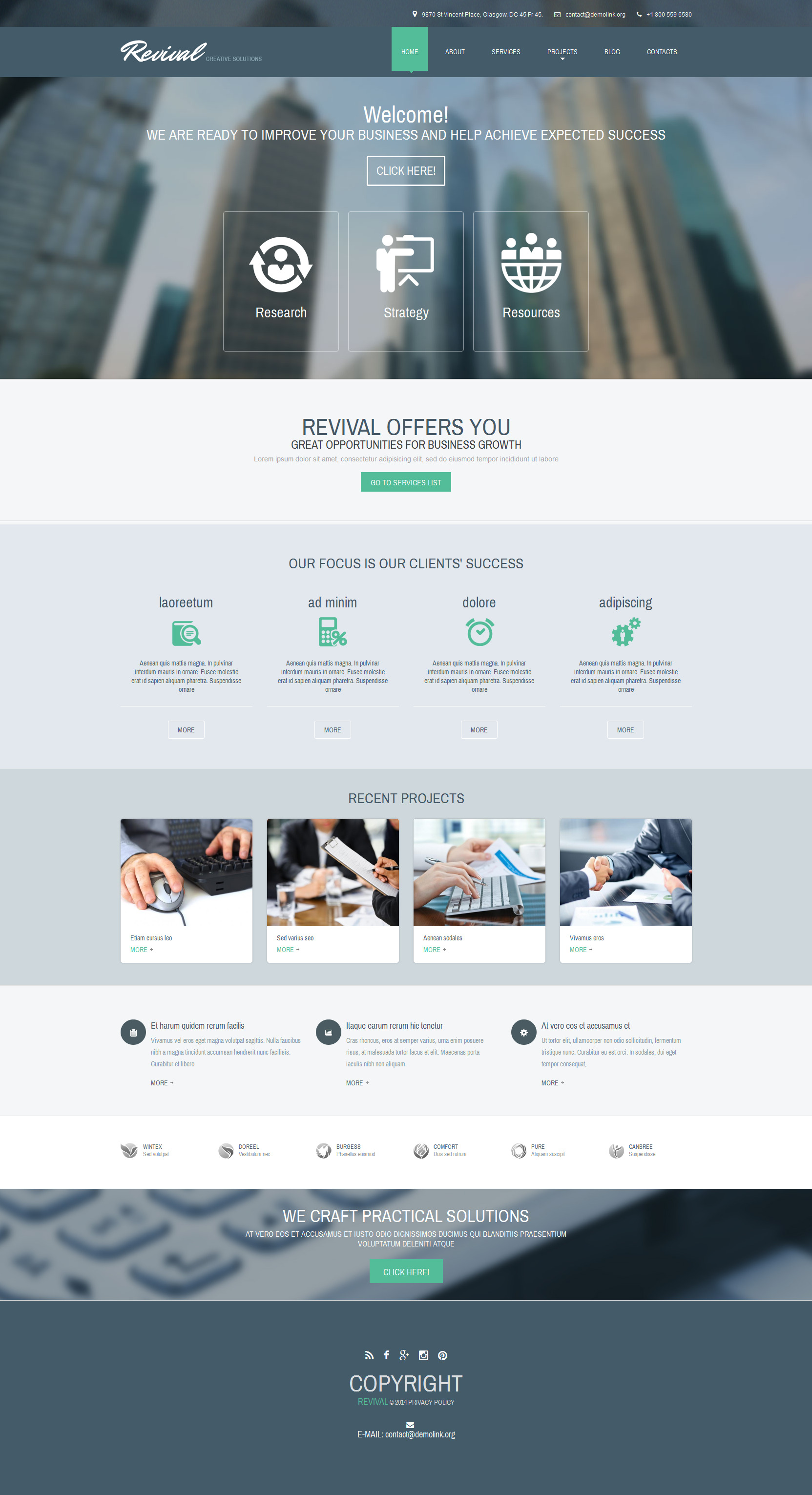 Business & Services Responsive Drupal Template