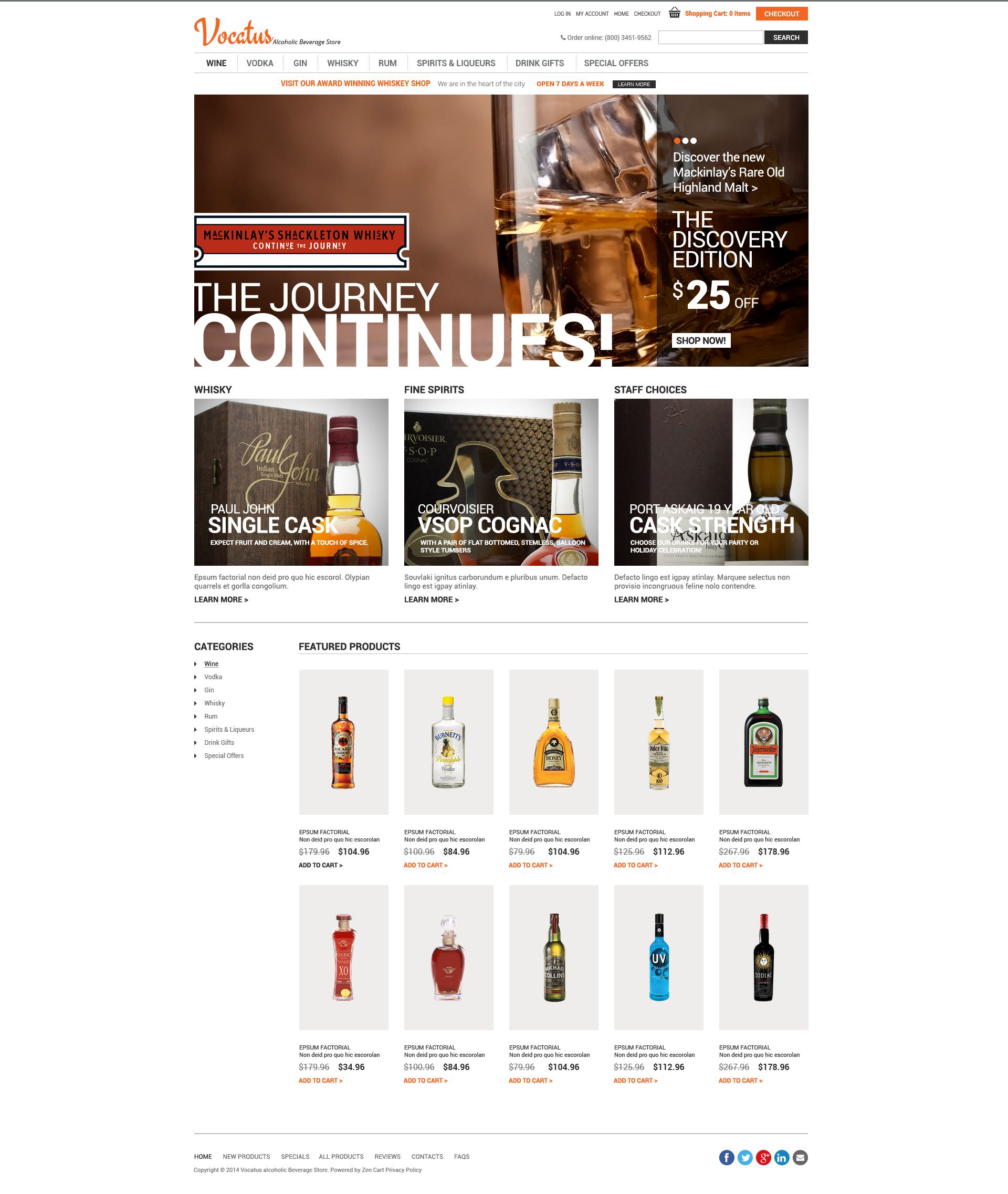 Quality Alcohol ZenCart Template