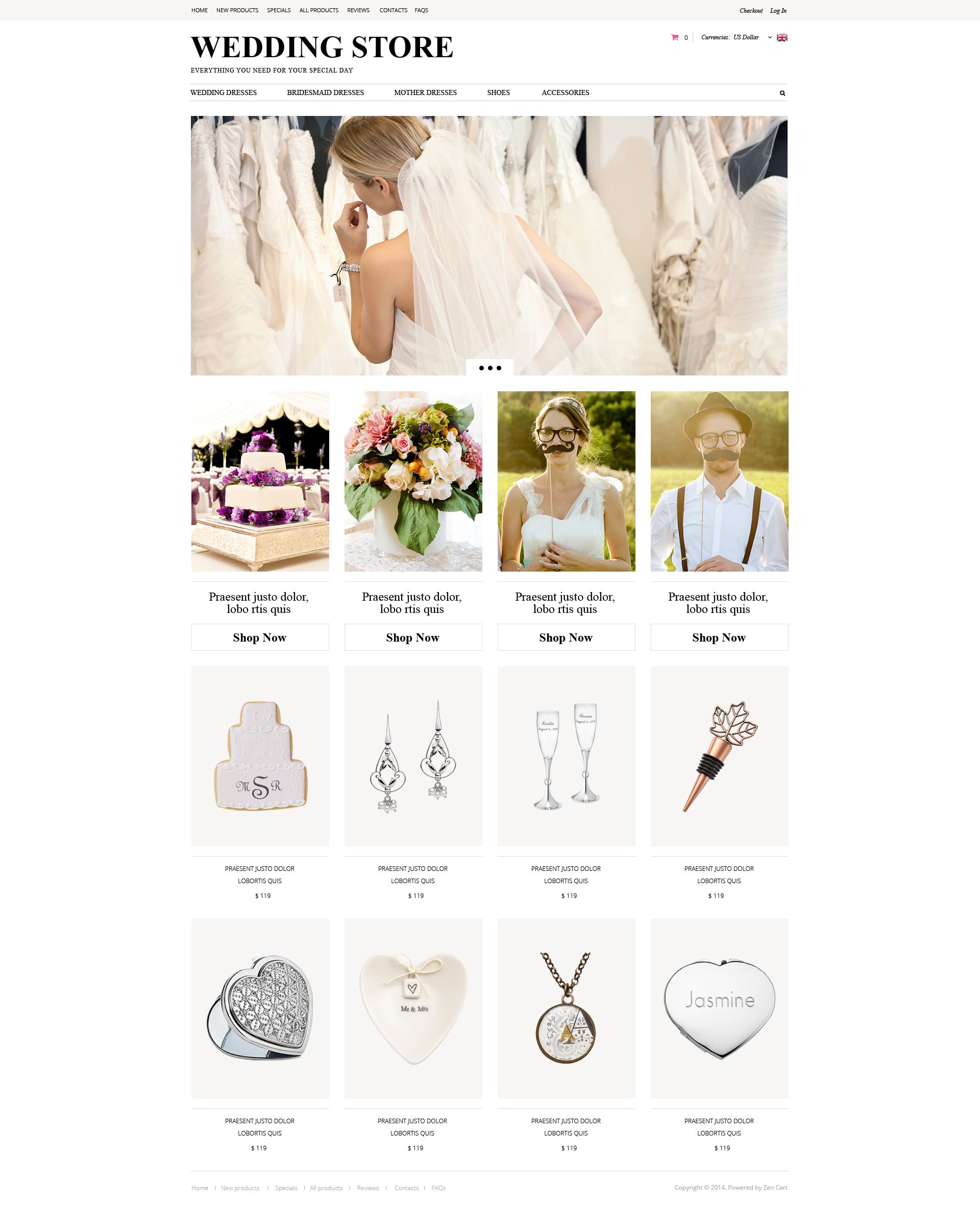 Wedding Planning ZenCart Template