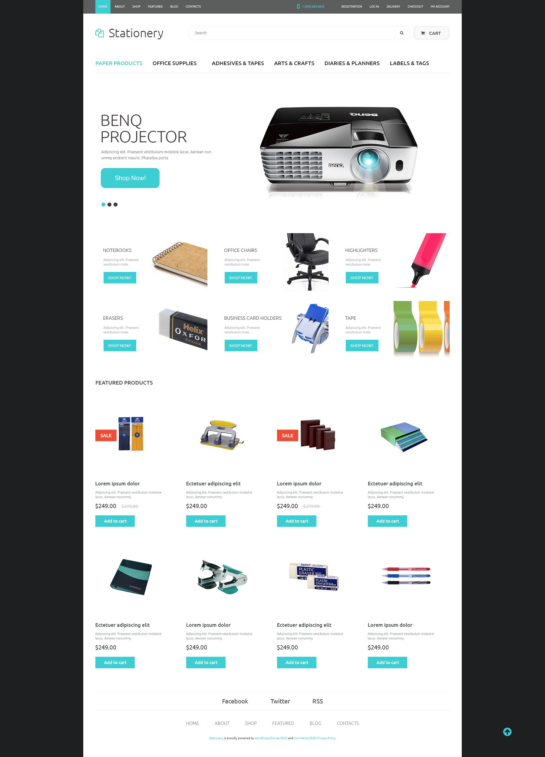 Office Supplies WooCommerce Theme