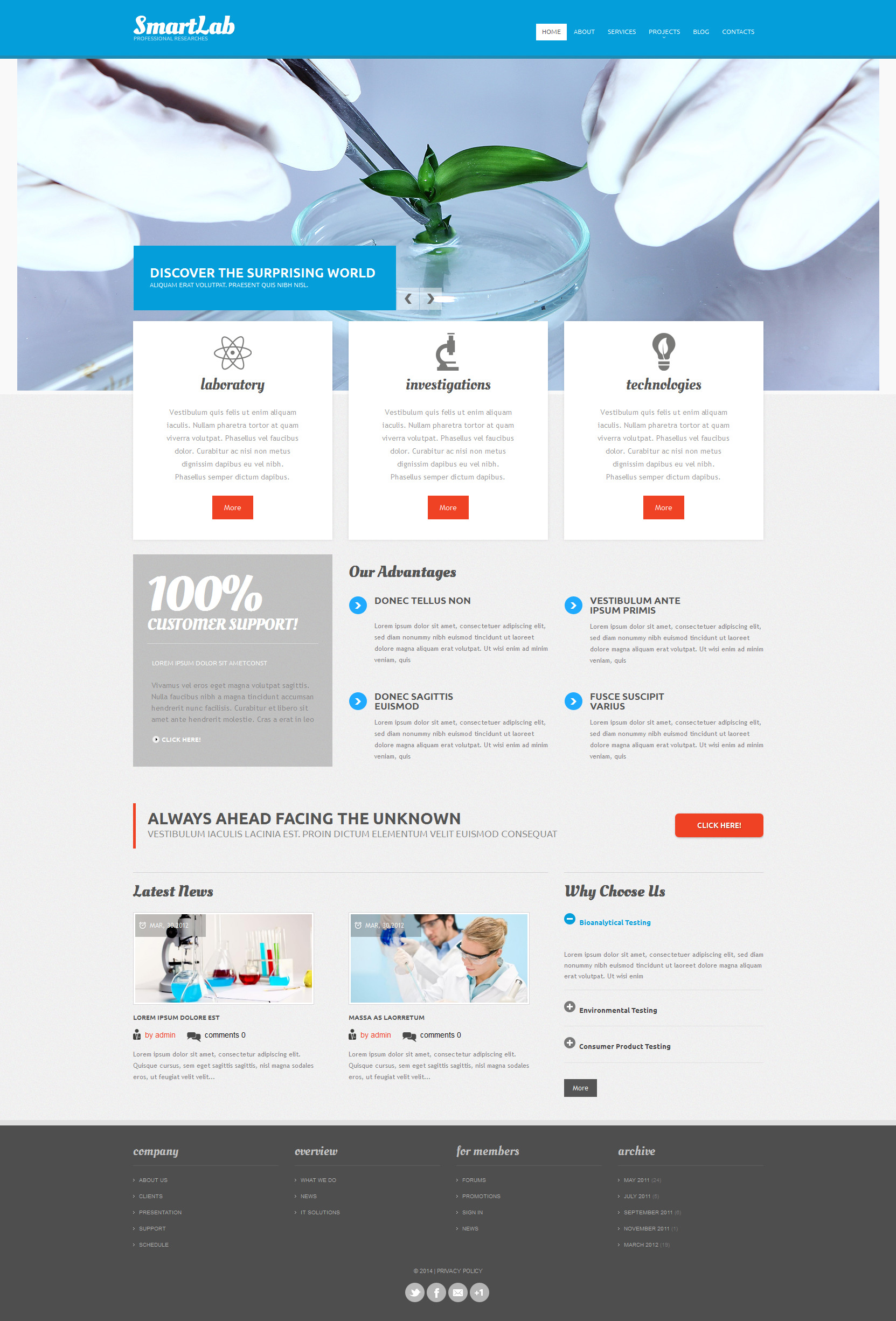 Science Lab Responsive Drupal Template