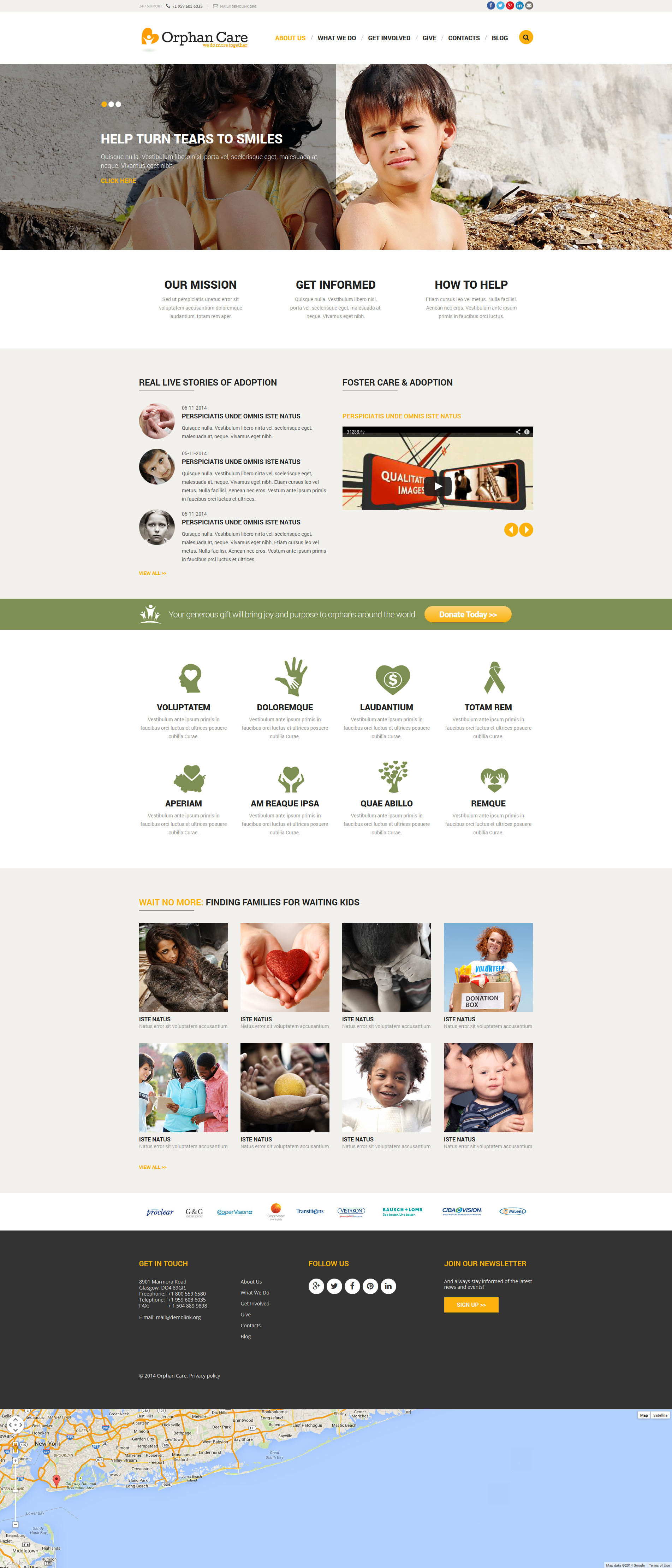 Orphanage Donations Joomla Template